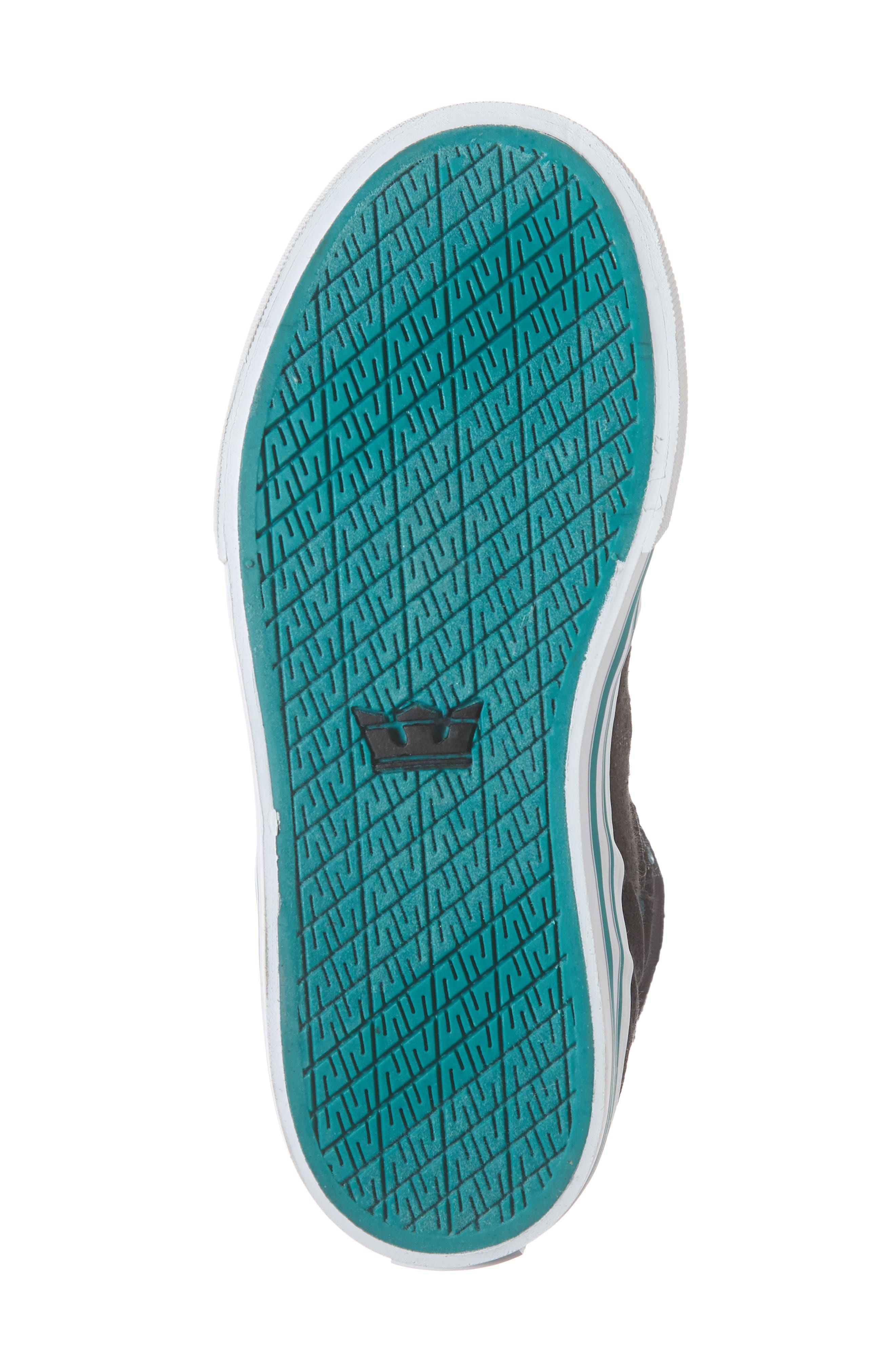 'Vaider' High Top Sneaker,                             Alternate thumbnail 6, color,                             BLACK/ TEAL