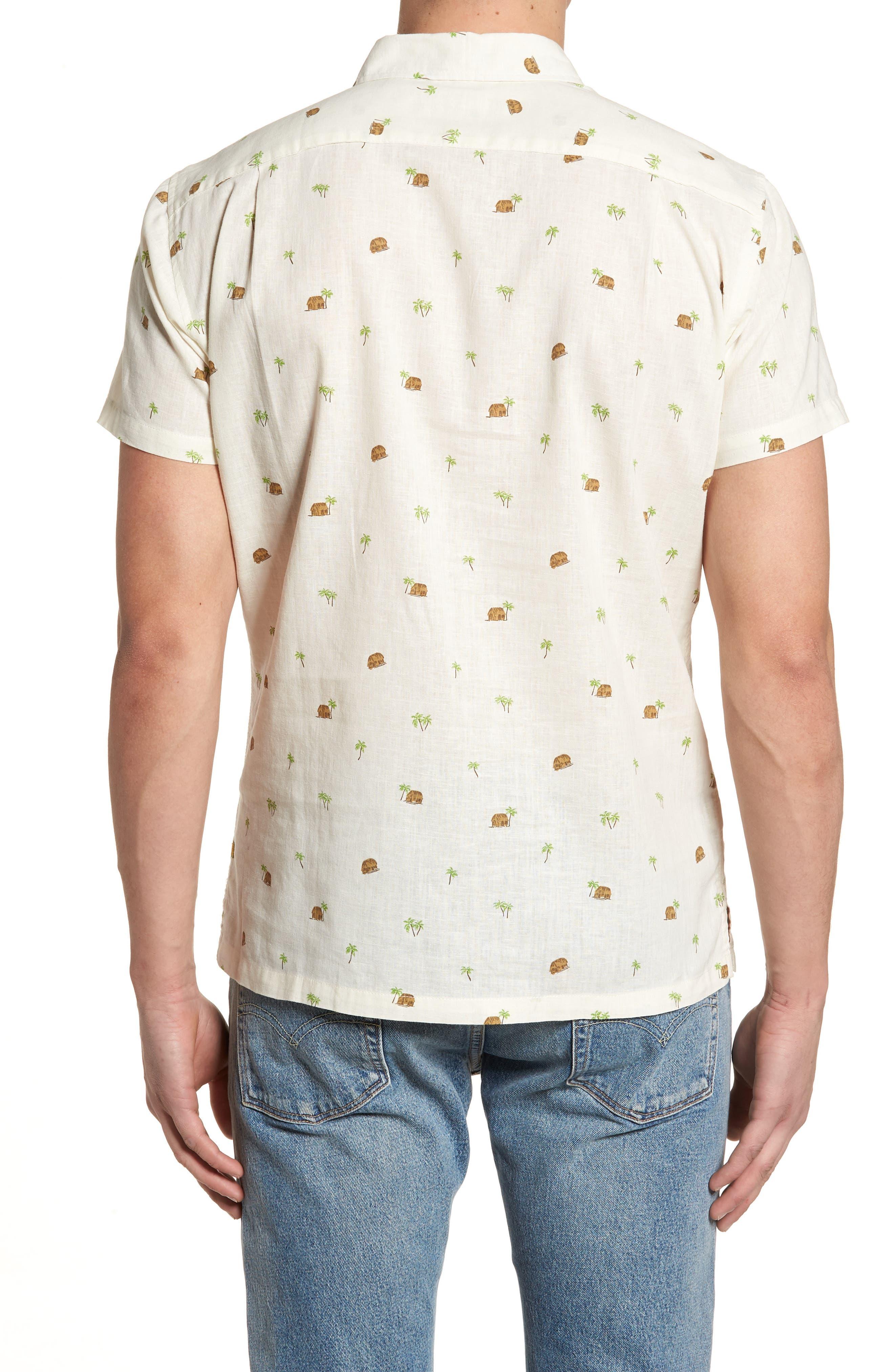 Hale Niu Trim Fit Linen Blend Camp Shirt,                             Alternate thumbnail 2, color,                             102