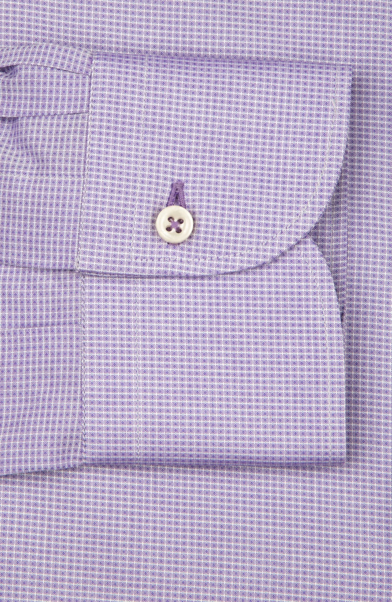 Regular Fit Solid Dress Shirt,                             Alternate thumbnail 6, color,                             LILAC