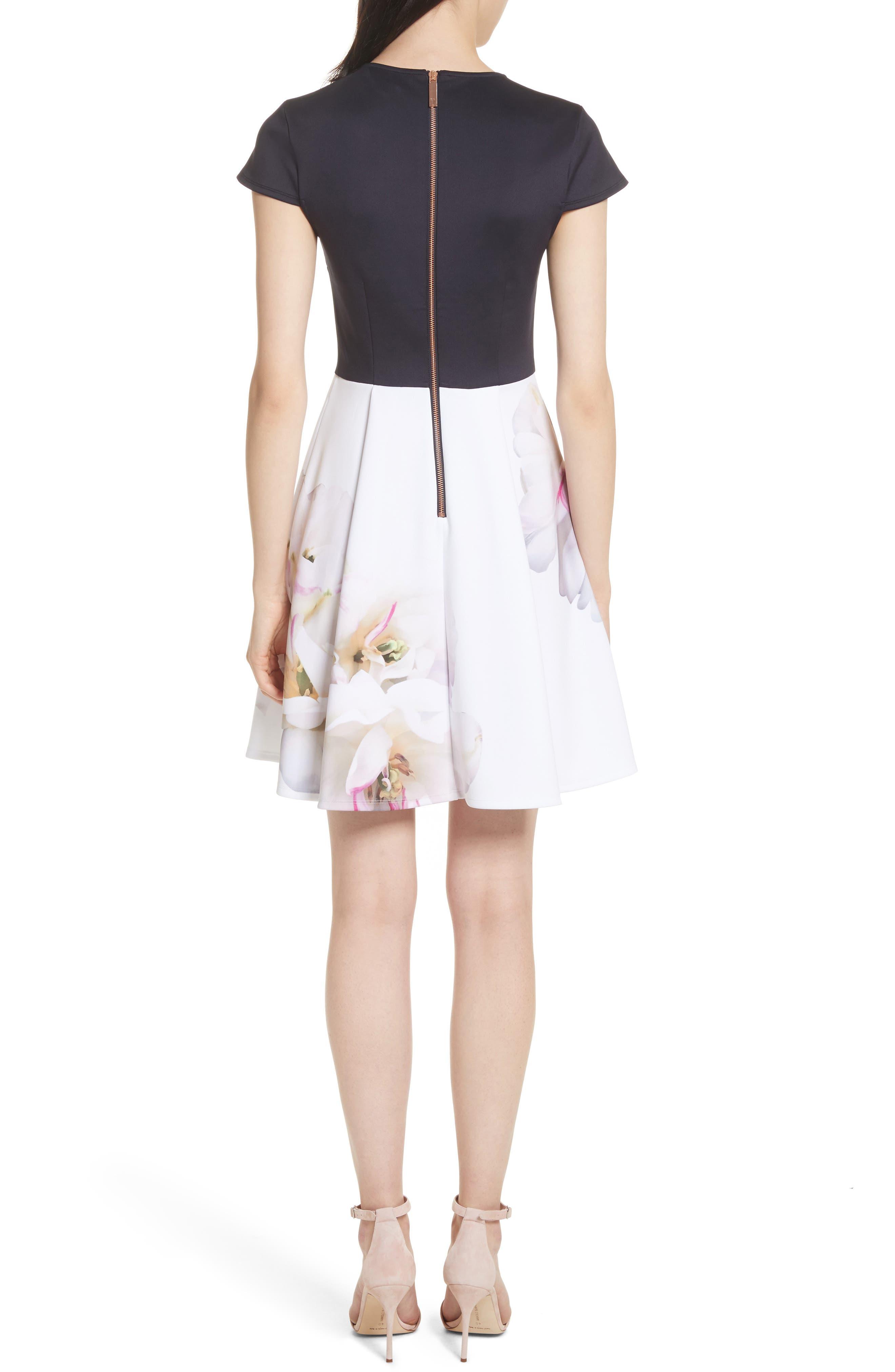 Gardenia Skater Dress,                             Alternate thumbnail 2, color,                             402