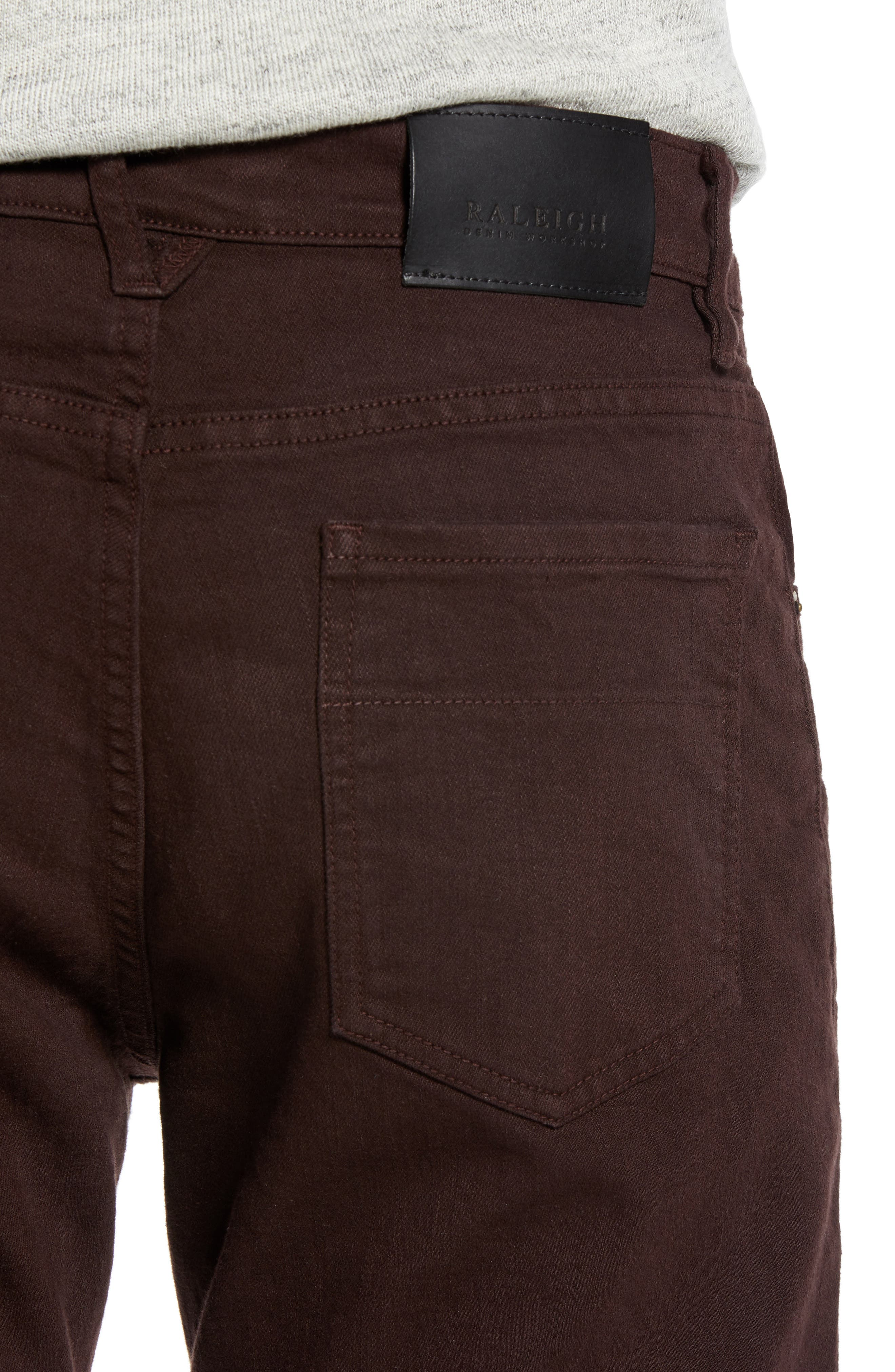 Raleight Denim Martin Skinny Fit Jeans,                             Alternate thumbnail 4, color,                             CURRANT