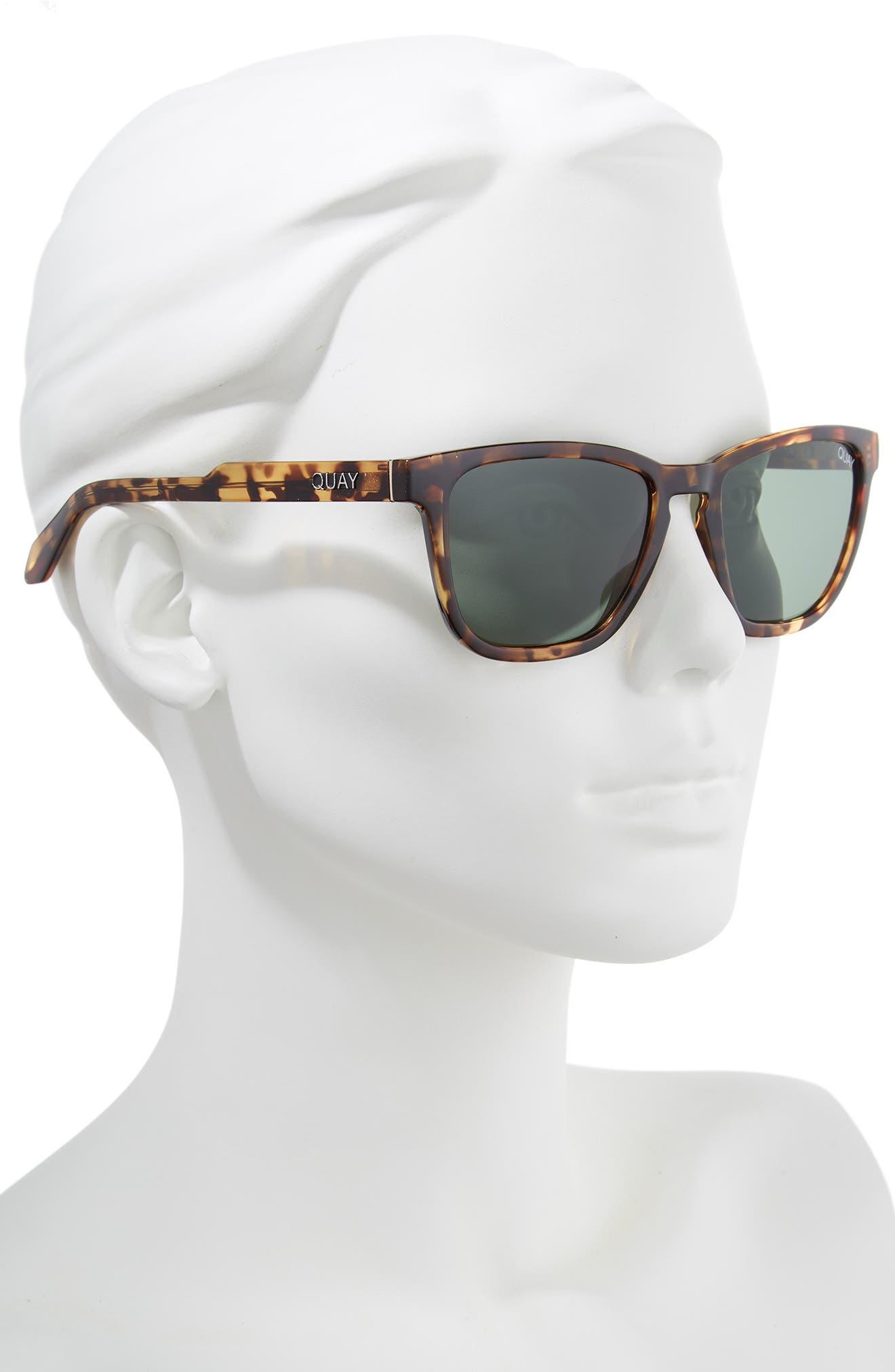 Hardwire 54mm Polarized Sunglasses,                             Alternate thumbnail 2, color,                             TORT/ GREEN LENS