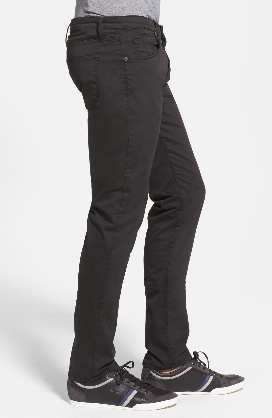 'Kane' Slim Fit Cotton Twill Pants,                             Alternate thumbnail 34, color,
