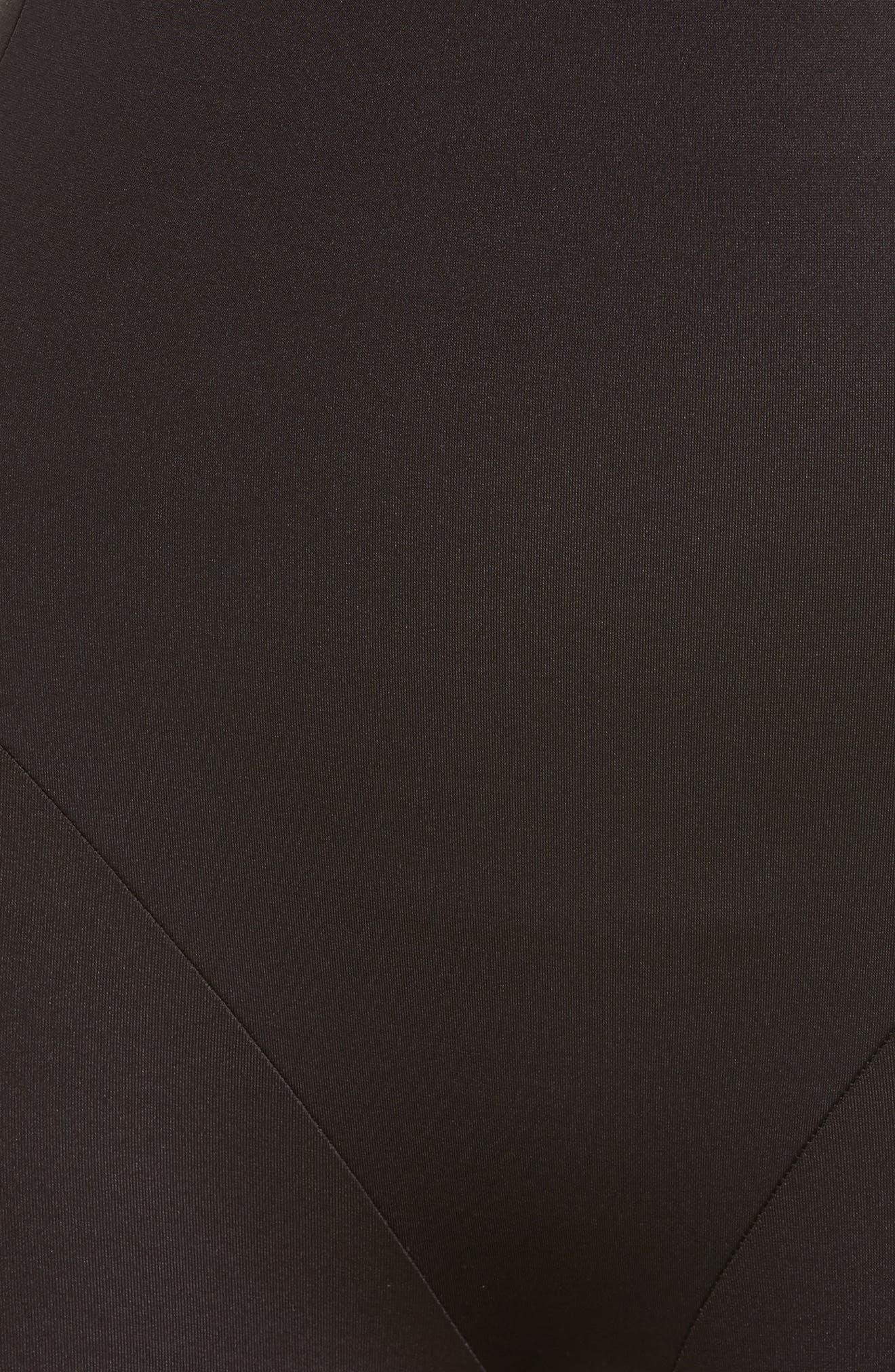 Boost & Reduce High Waist Shaping Boyshorts,                             Alternate thumbnail 5, color,                             BLACK
