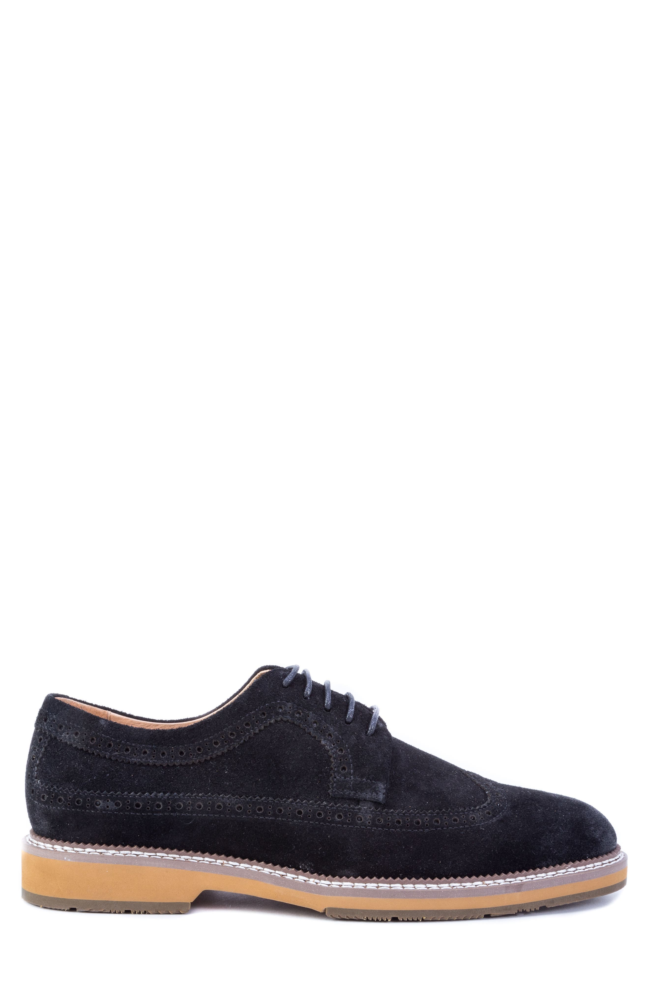 Modigliani Wingtip Derby,                             Alternate thumbnail 3, color,                             BLACK SUEDE