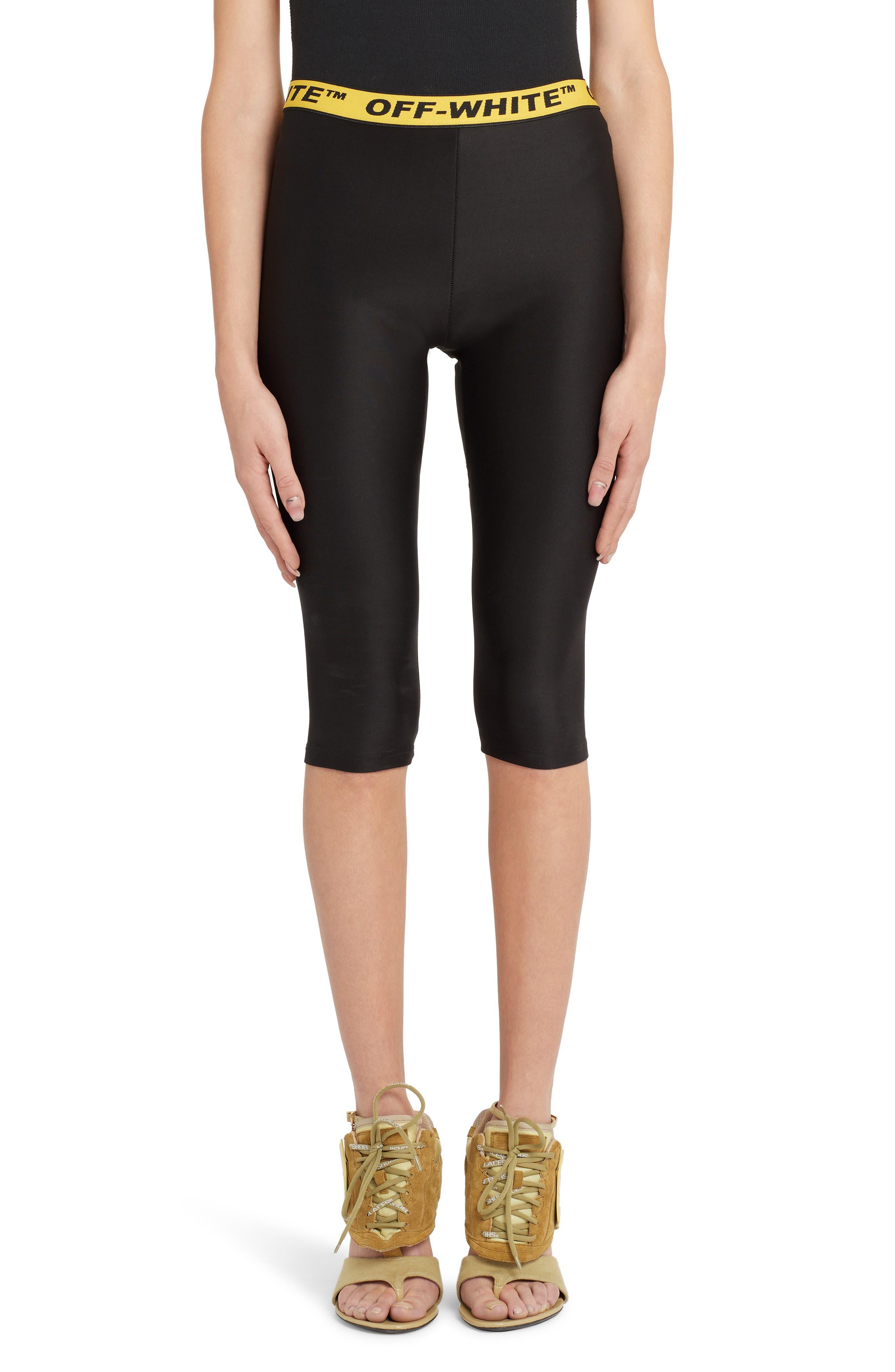 OFF-WHITE Industrial Jogging Crop Pants, Main, color, BLACK