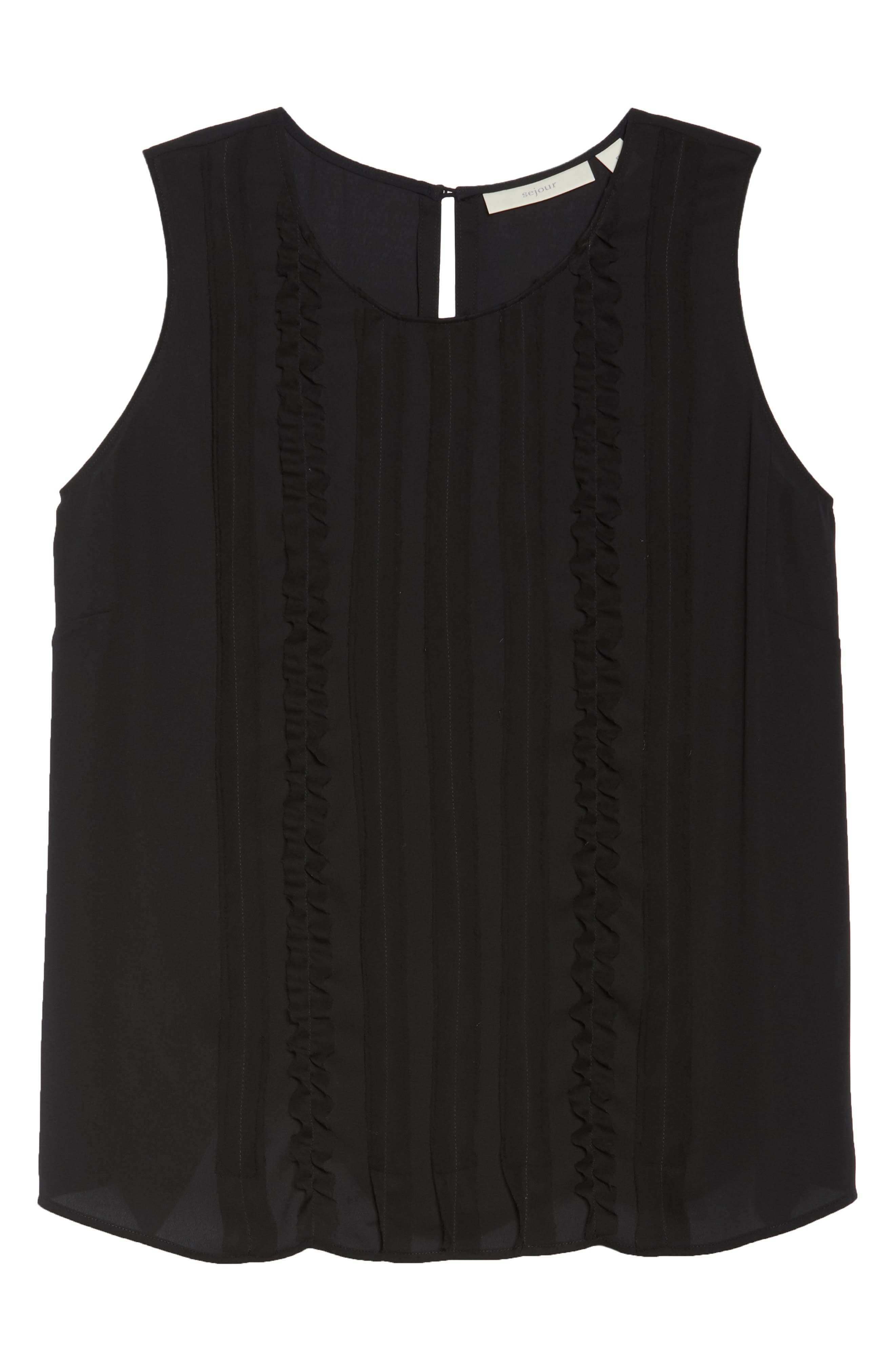 Ruffle Front Tank,                             Alternate thumbnail 7, color,                             001