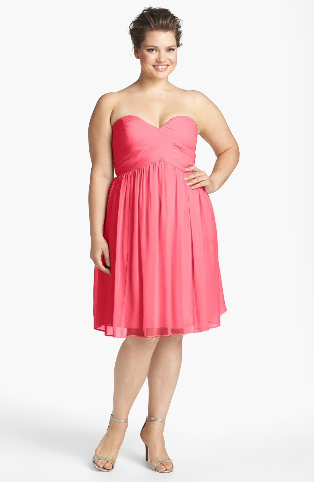 'Morgan' Strapless Silk Chiffon Dress,                             Alternate thumbnail 141, color,