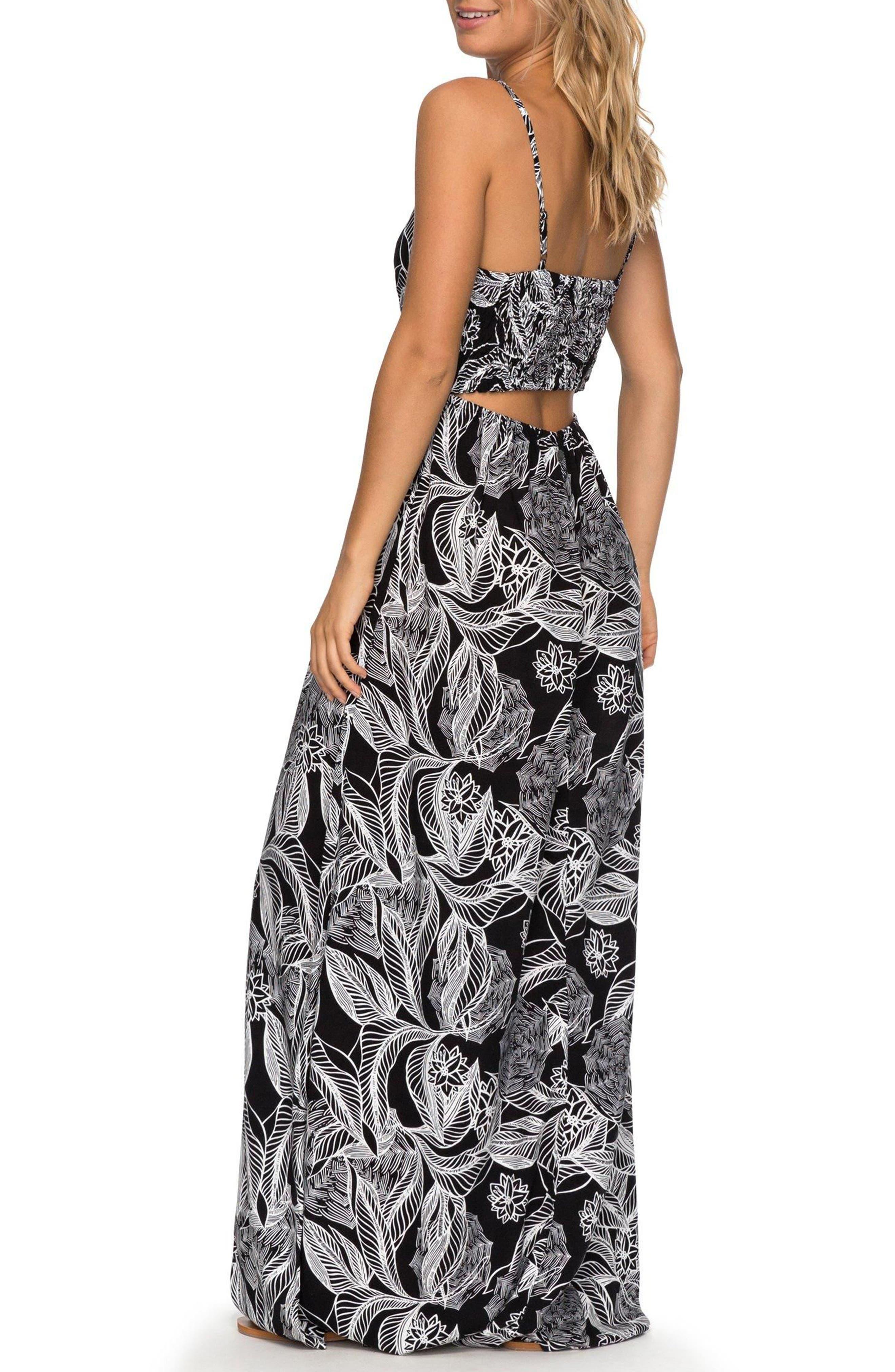 Brilliant Stars Print Maxi Dress,                             Alternate thumbnail 2, color,                             002