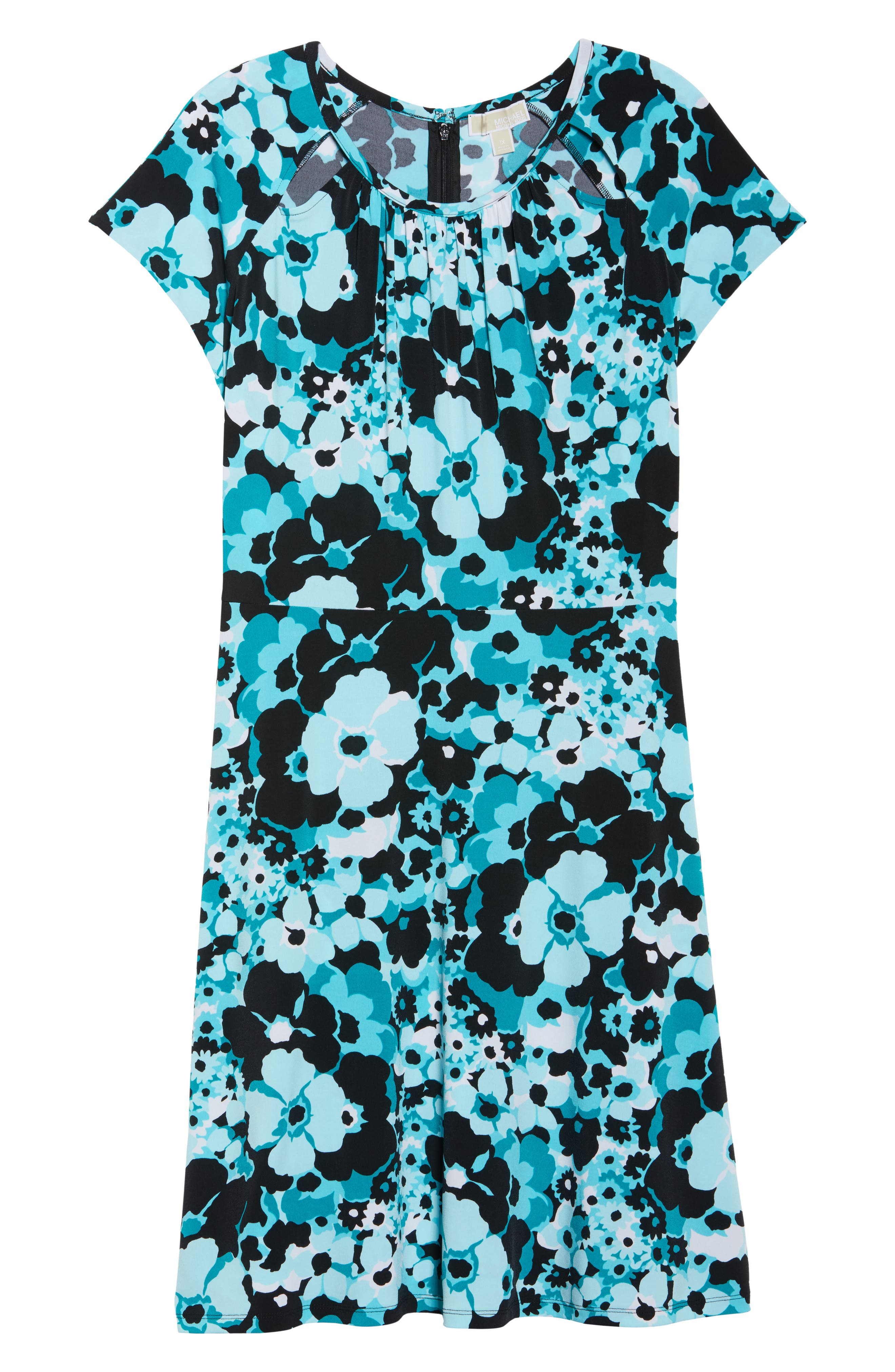Springtime Floral Cutout Dress,                             Alternate thumbnail 6, color,                             494