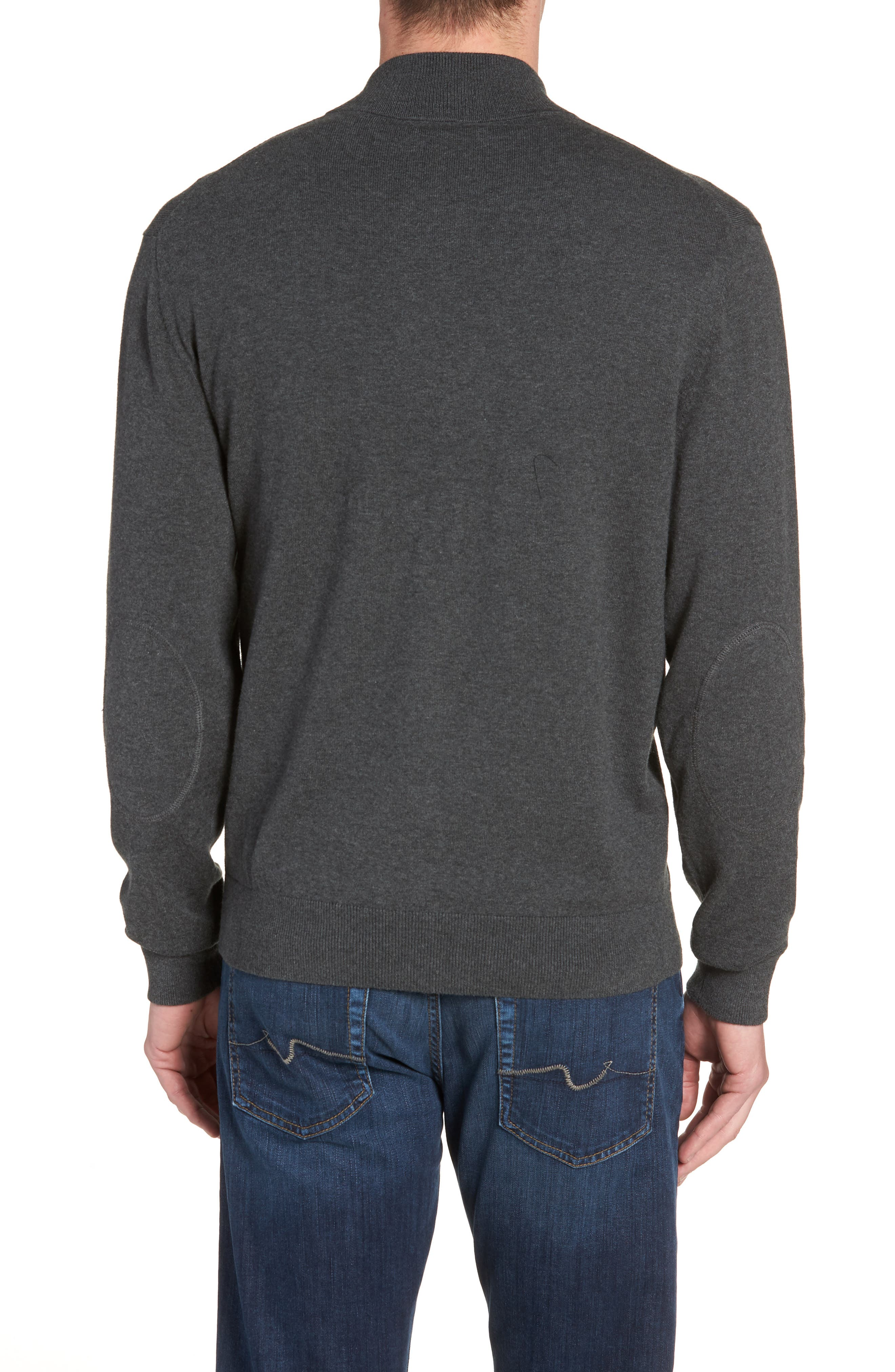 Los Angeles Chargers - Lakemont Regular Fit Quarter Zip Sweater,                             Alternate thumbnail 2, color,                             CHARCOAL HEATHER