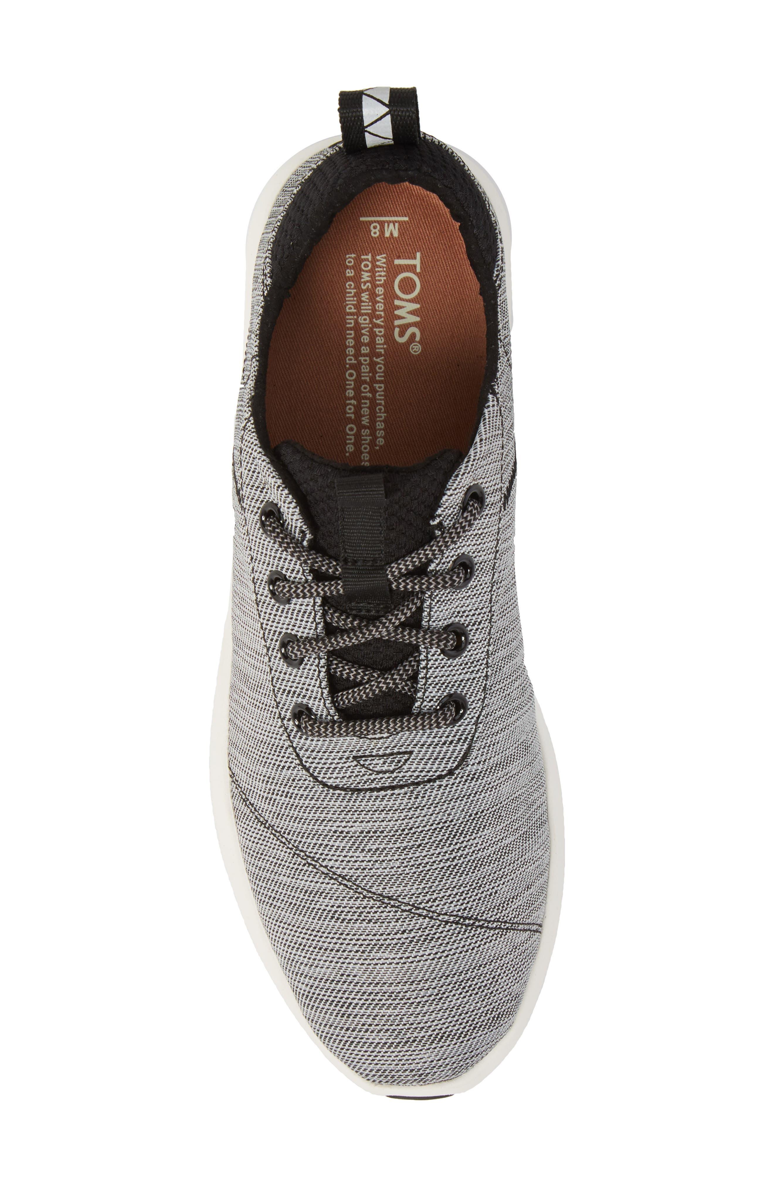 Cabrillo Sneaker,                             Alternate thumbnail 5, color,                             BLACK SPACE-DYE