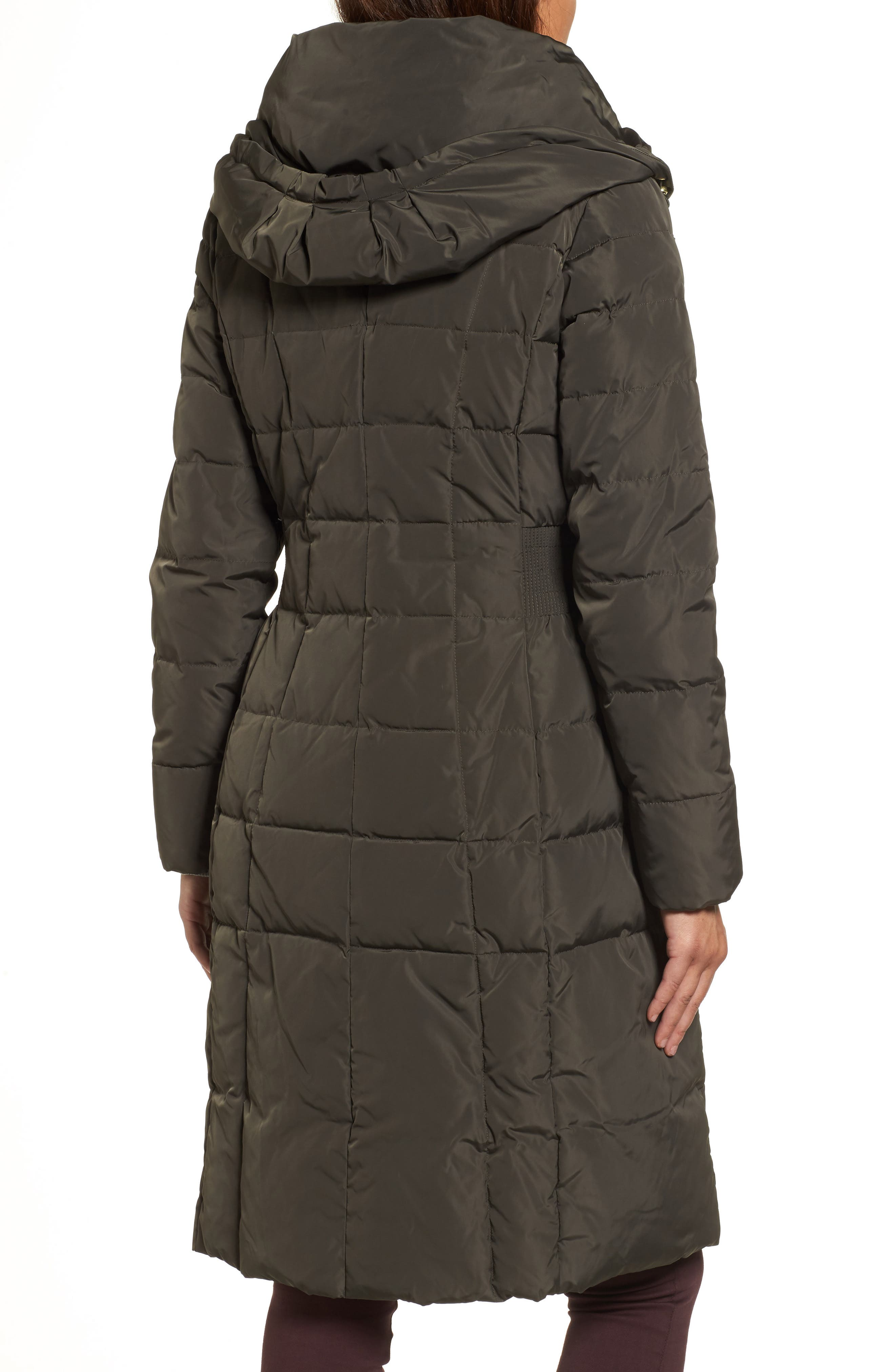 Cole Haan Bib Insert Down & Feather Fill Coat,                             Alternate thumbnail 2, color,                             FOREST