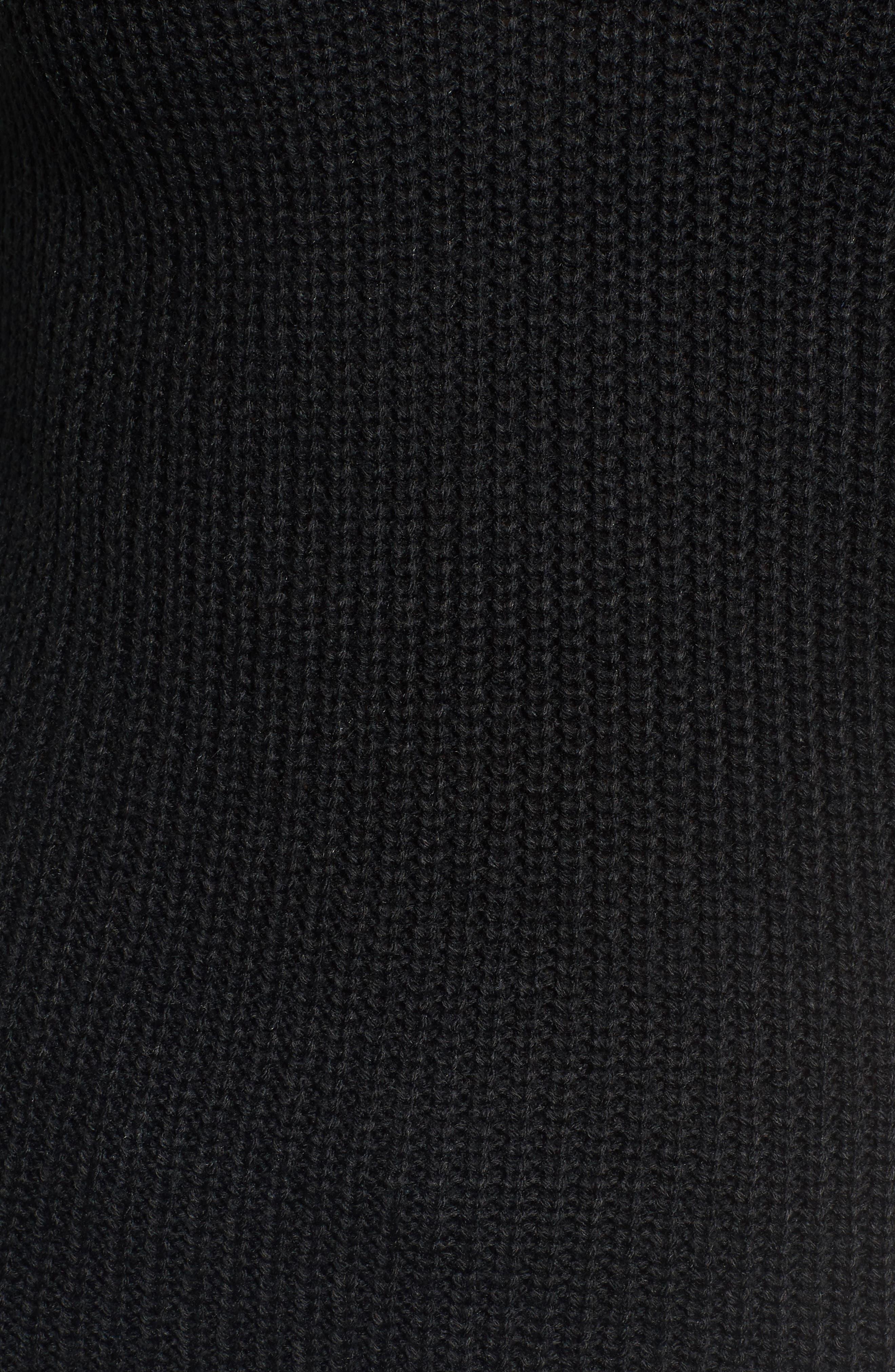 Madison Cutout Sweater,                             Alternate thumbnail 5, color,                             001