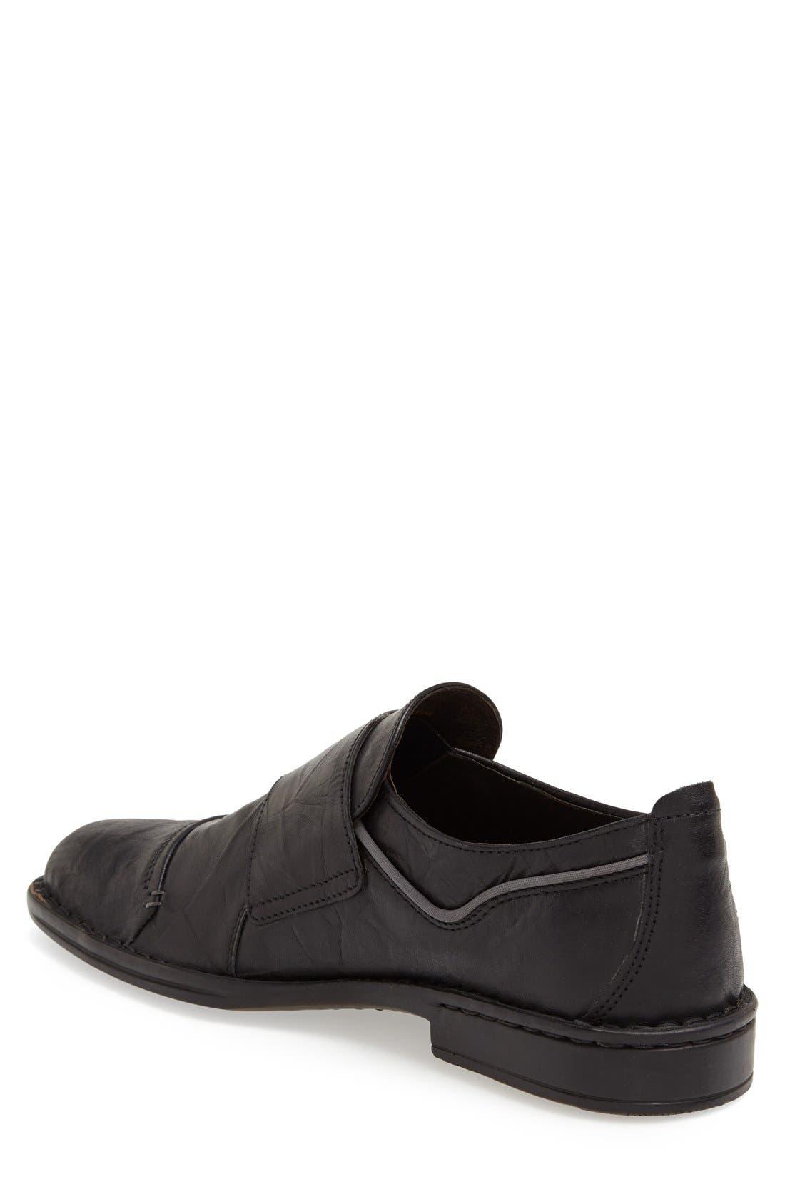 'Douglas 11' Double Monk Strap Shoe,                             Alternate thumbnail 6, color,                             BLACK