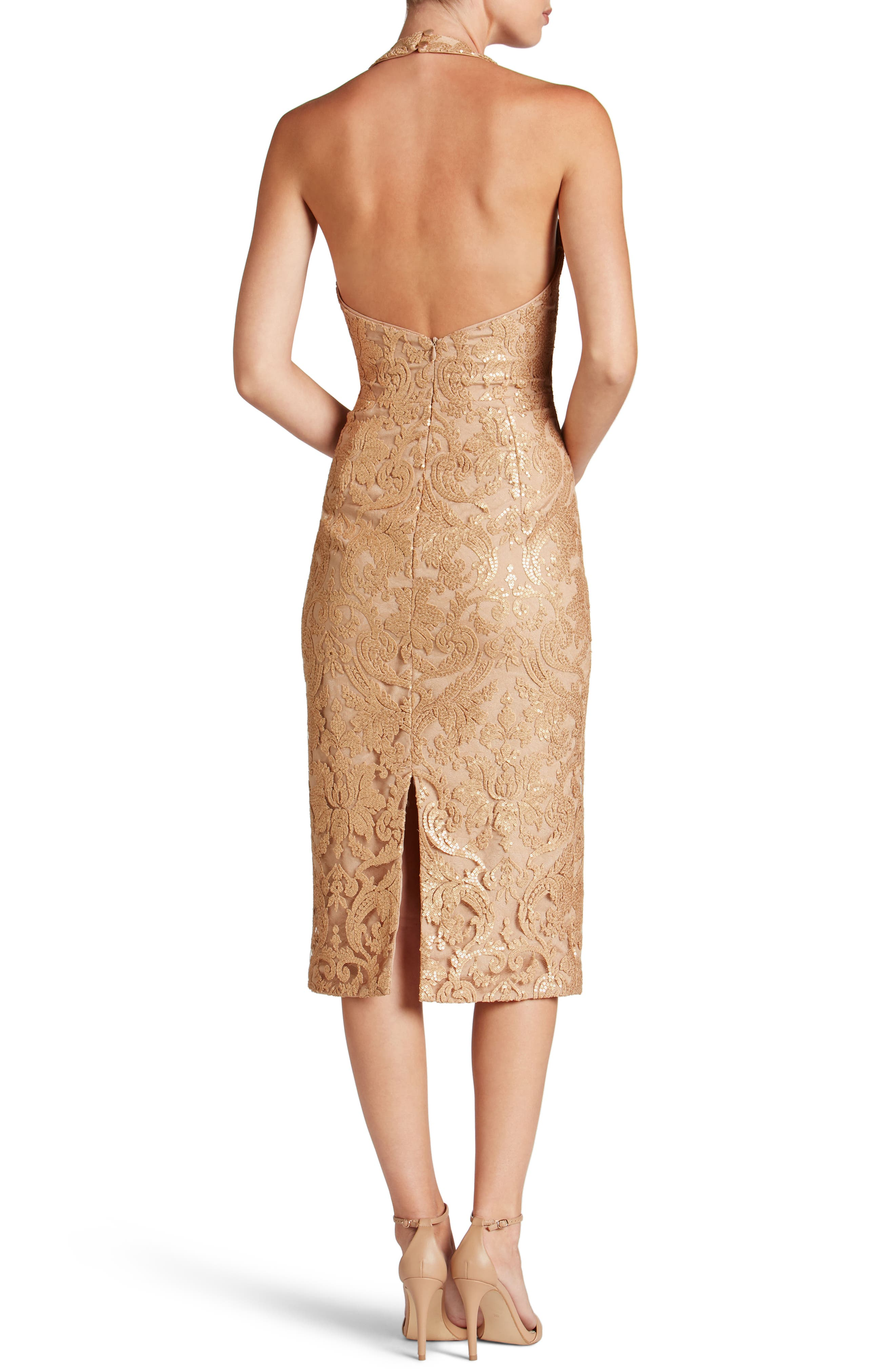 Cassie Sequin Midi Dress,                             Alternate thumbnail 14, color,