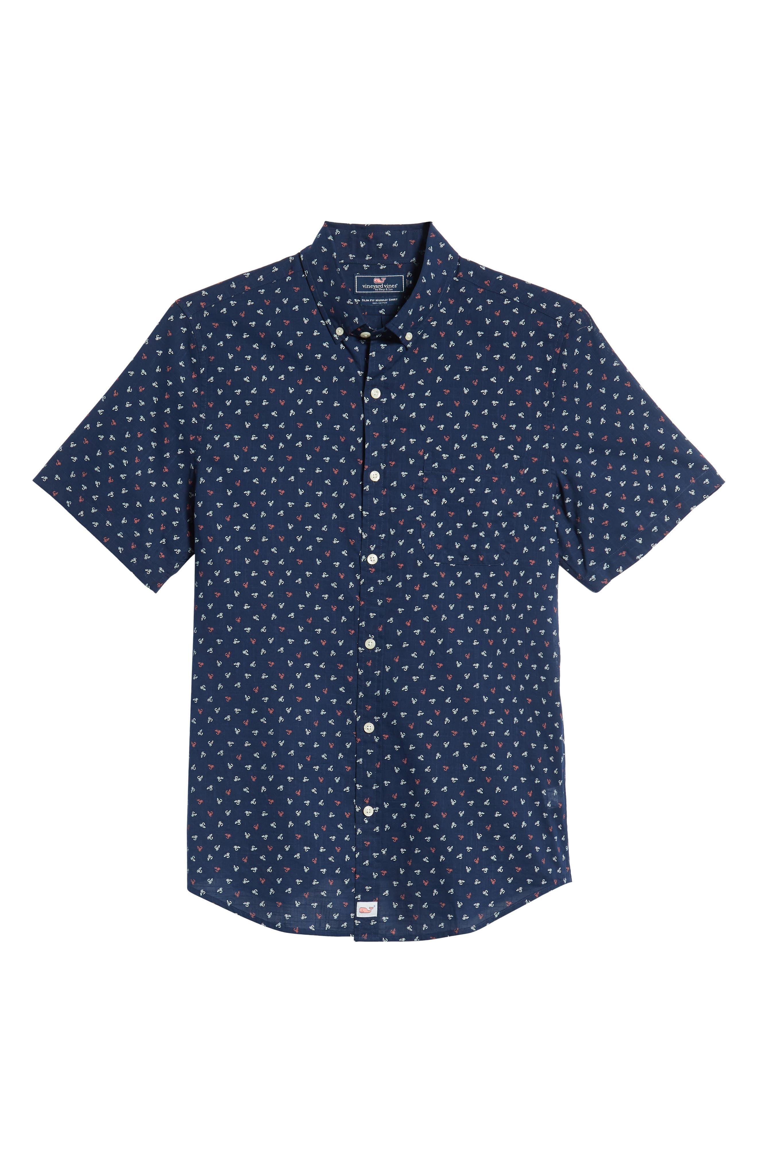 Murray Lures Slim Fit Sport Shirt,                             Alternate thumbnail 5, color,                             DEEP BAY