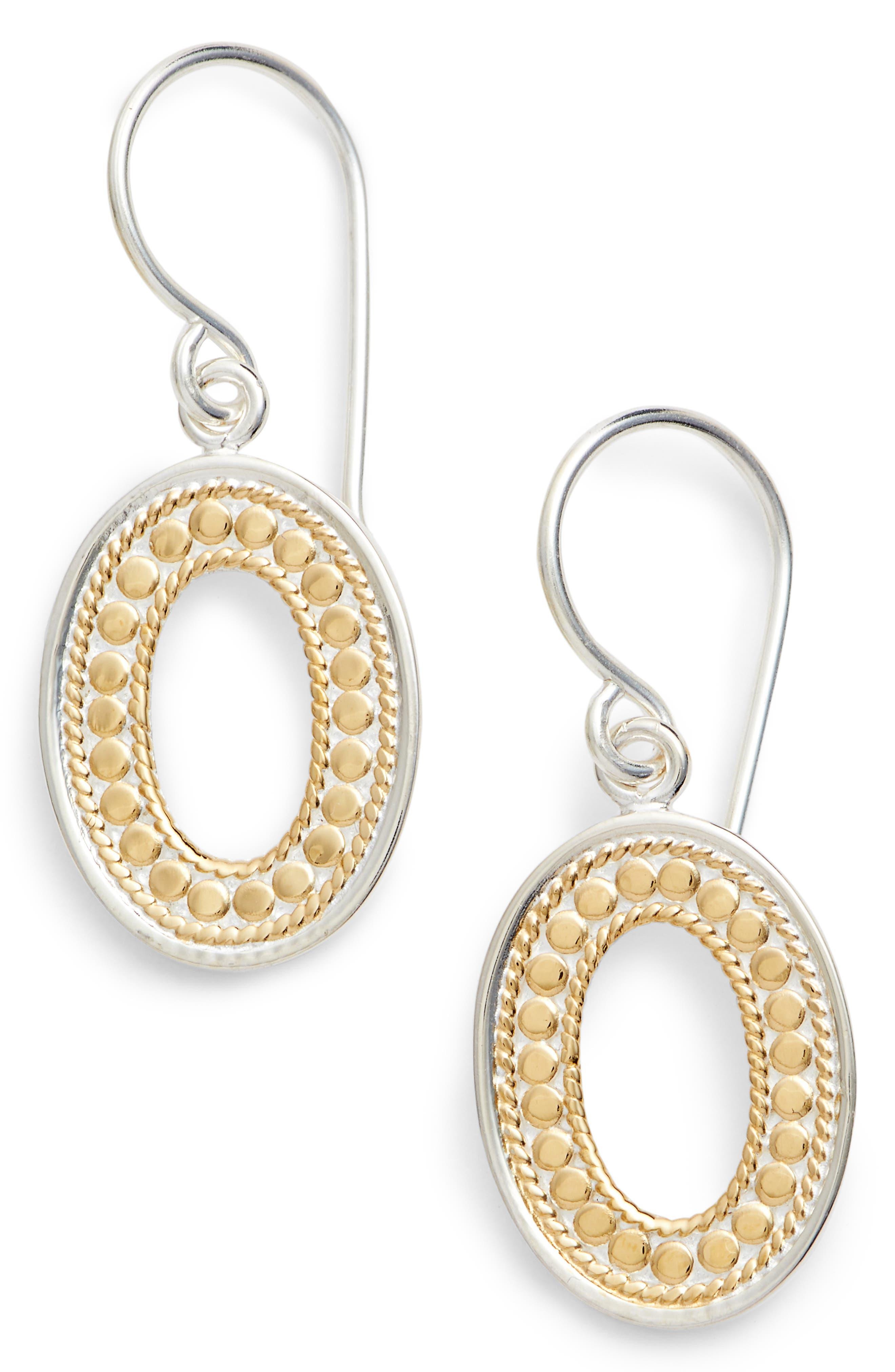 Open Oval Drop Earrings,                             Main thumbnail 1, color,                             GOLD