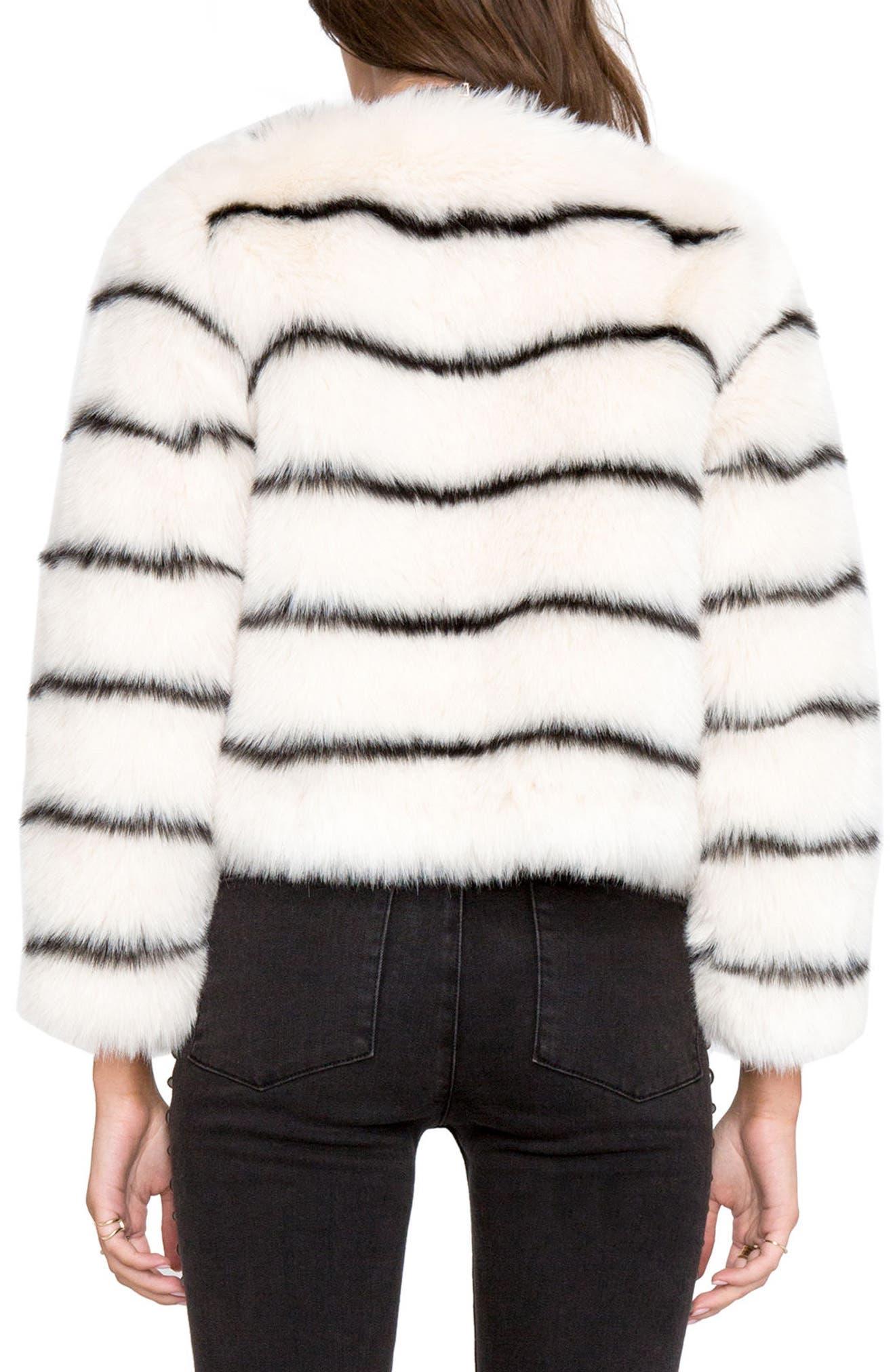 Tahlia Faux Fur Jacket,                             Alternate thumbnail 3, color,