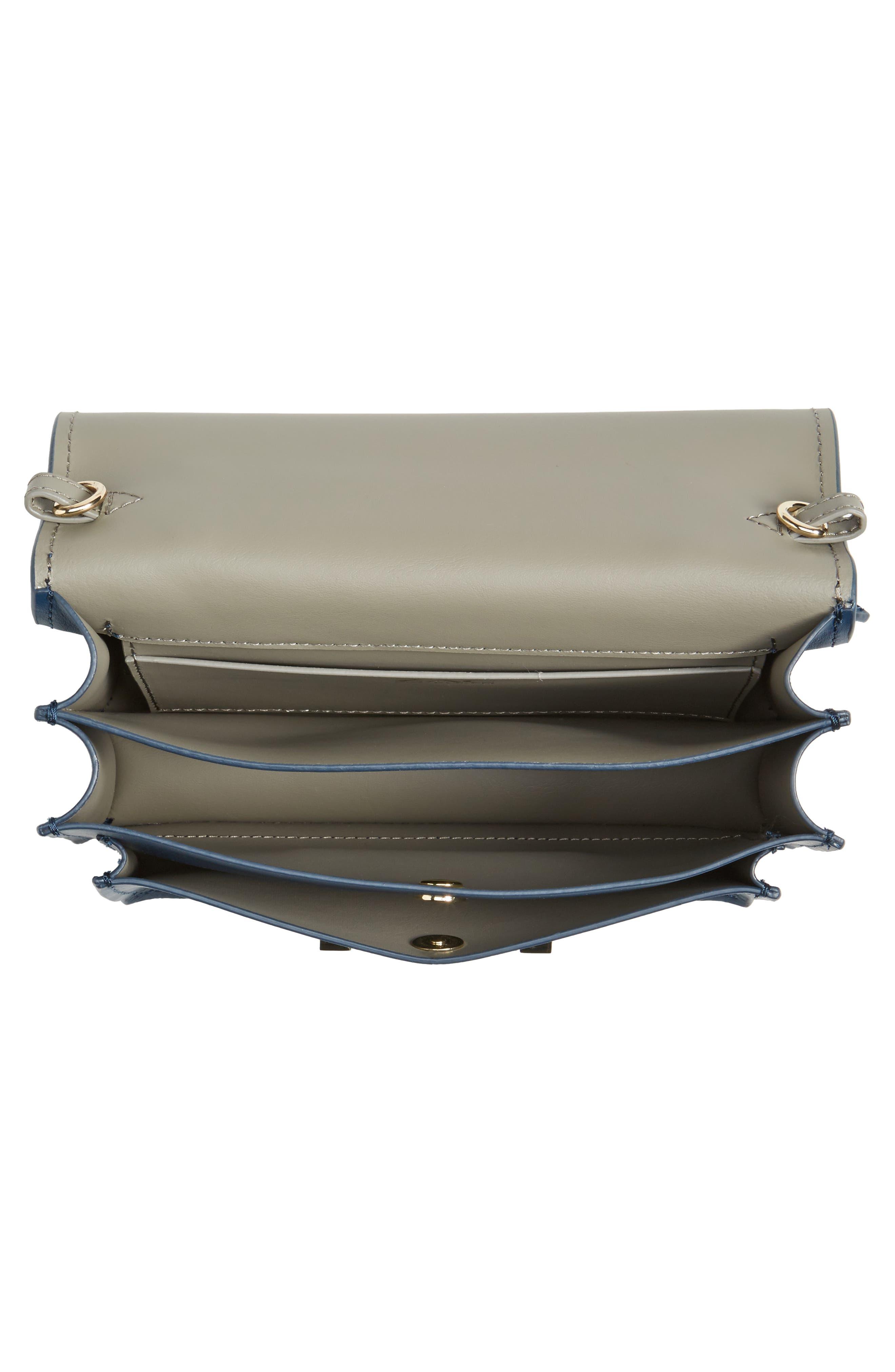Earthette Leather Accordion Bag,                             Alternate thumbnail 4, color,                             403