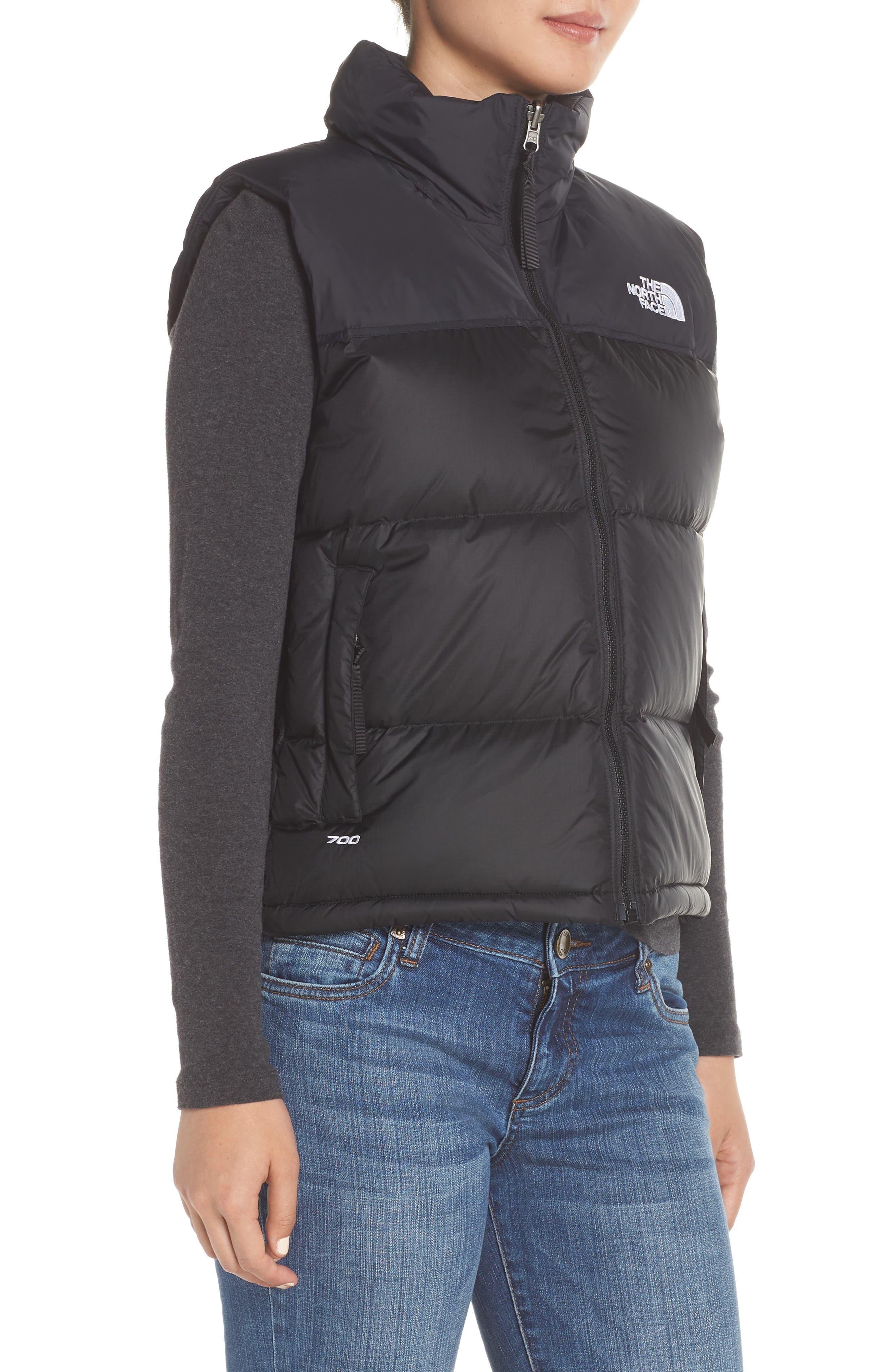 Nuptse 1996 Packable 700-Fill Power Down Vest,                             Alternate thumbnail 3, color,                             TNF BLACK