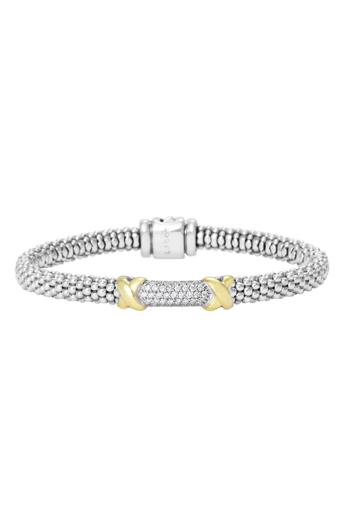'Diamond Lux' Diamond Rope Bracelet,                             Main thumbnail 1, color,                             040