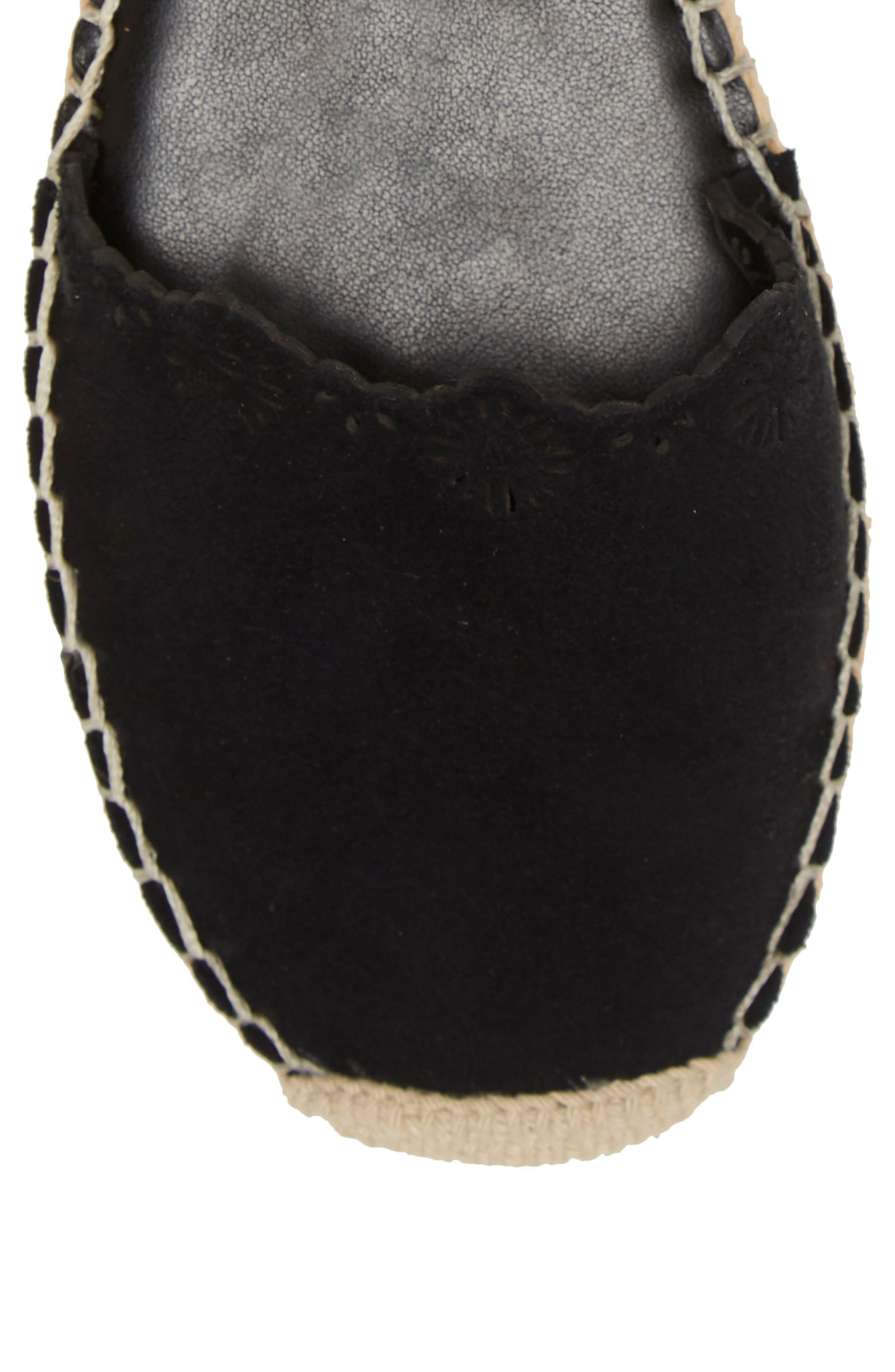 VINCE CAMUTO,                             Breshan Ankle Strap Espadrille Wedge,                             Alternate thumbnail 8, color,                             BLACK SUEDE