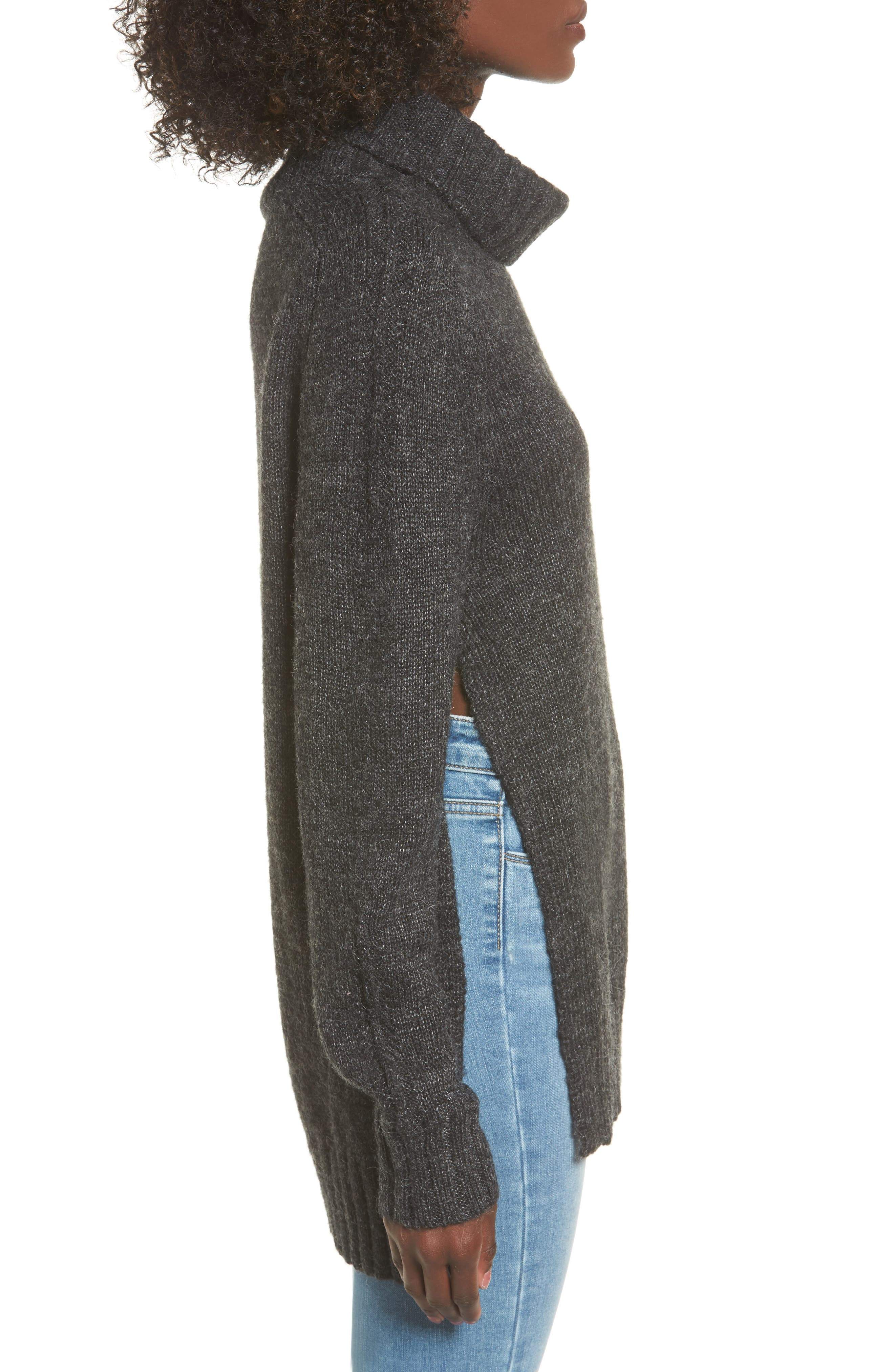 Stacy Turtleneck Sweater,                             Alternate thumbnail 3, color,                             020