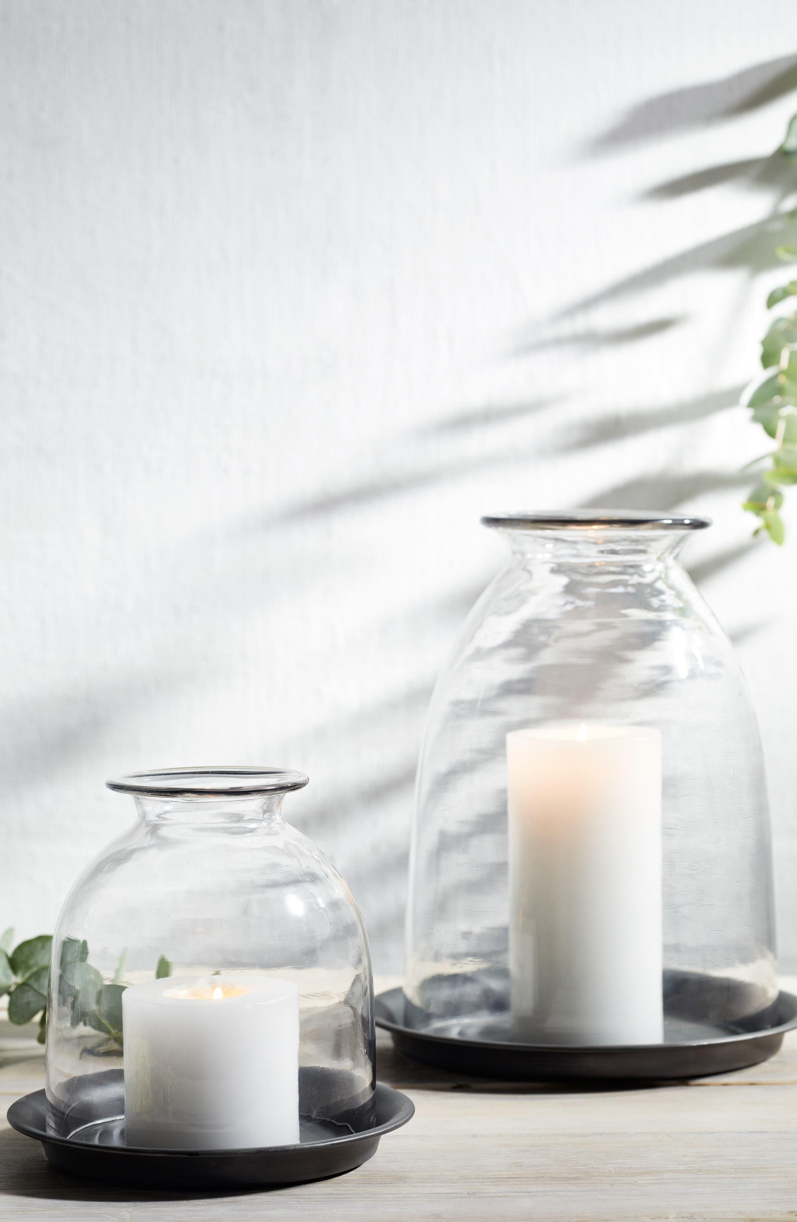 THE WHITE COMPANY,                             Dome Candle Holder & Tray,                             Alternate thumbnail 3, color,                             CLEAR