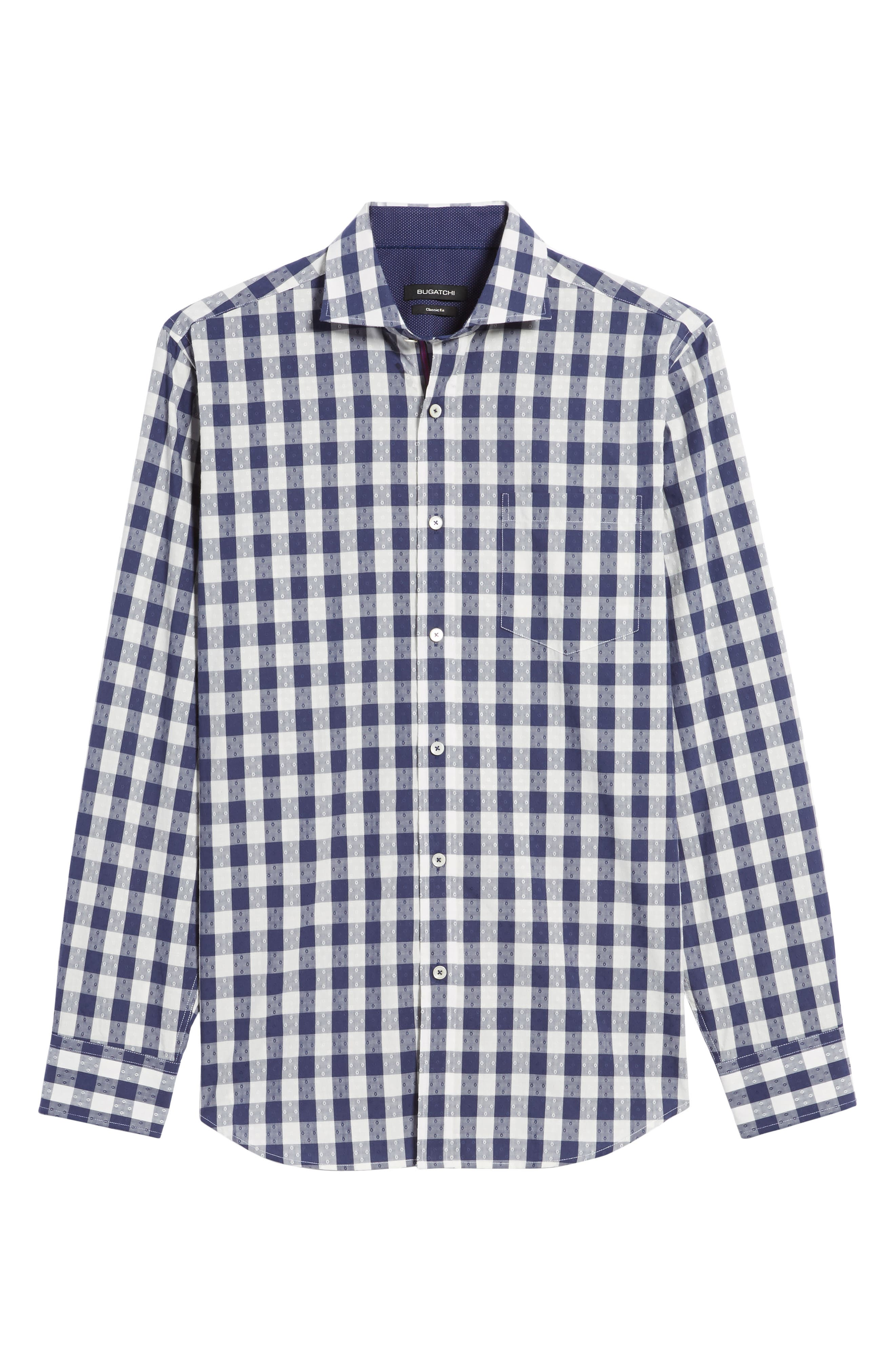 Classic Fit Dobby Gingham Sport Shirt,                             Alternate thumbnail 6, color,                             459