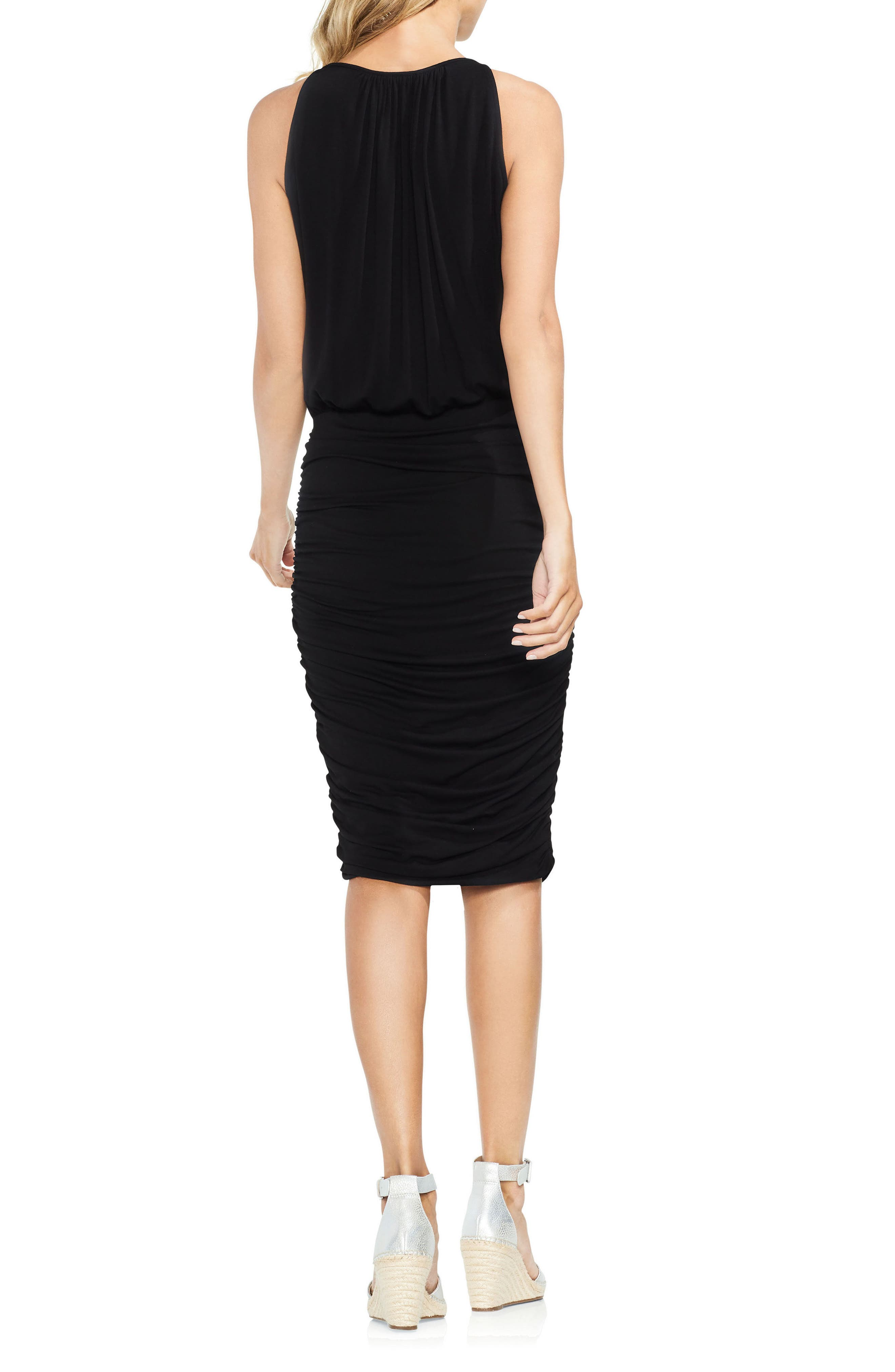 Ruched Keyhole Dress,                             Alternate thumbnail 3, color,