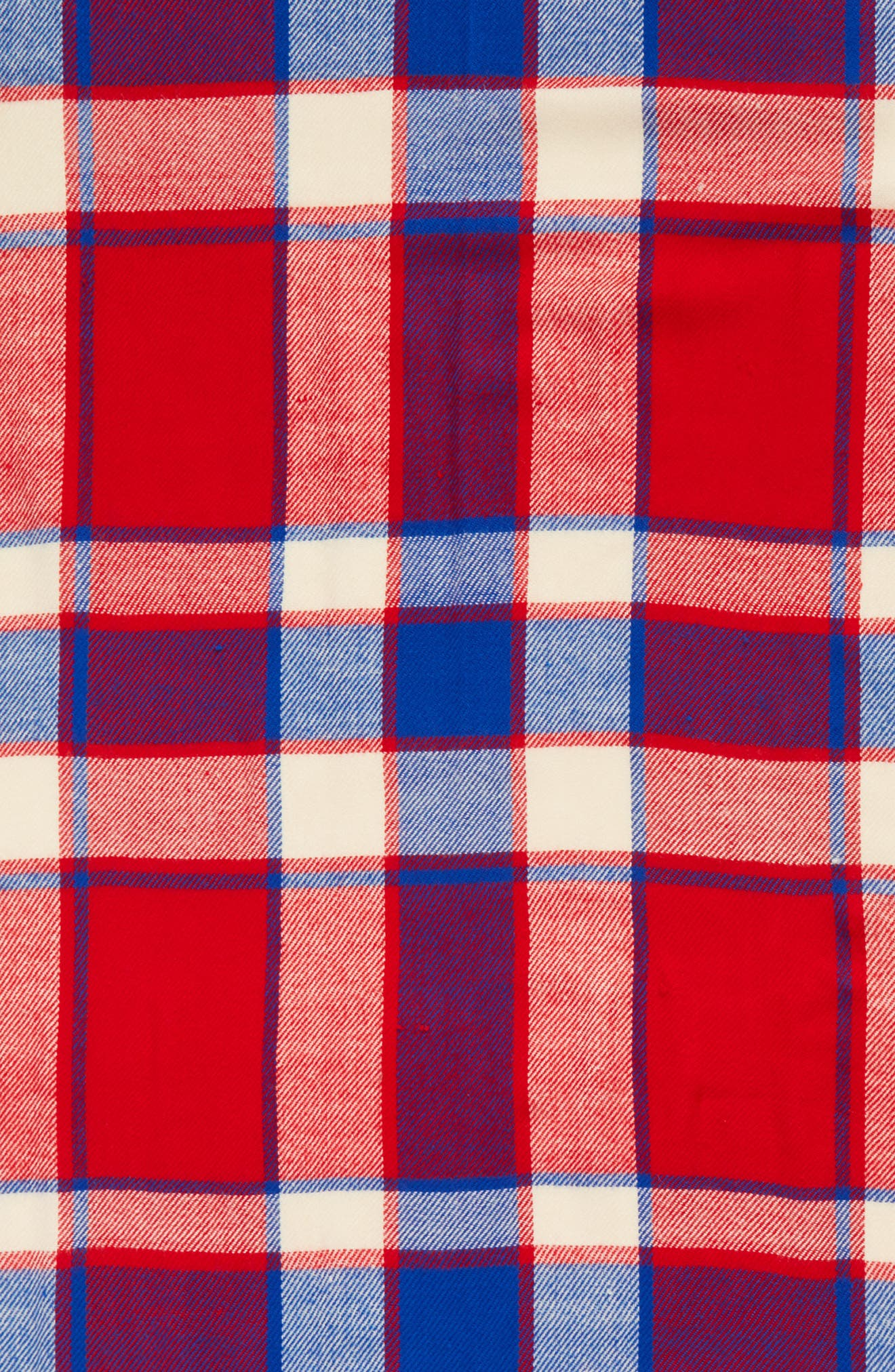 Plaid Scarf,                             Alternate thumbnail 4, color,                             RED/ BLUE