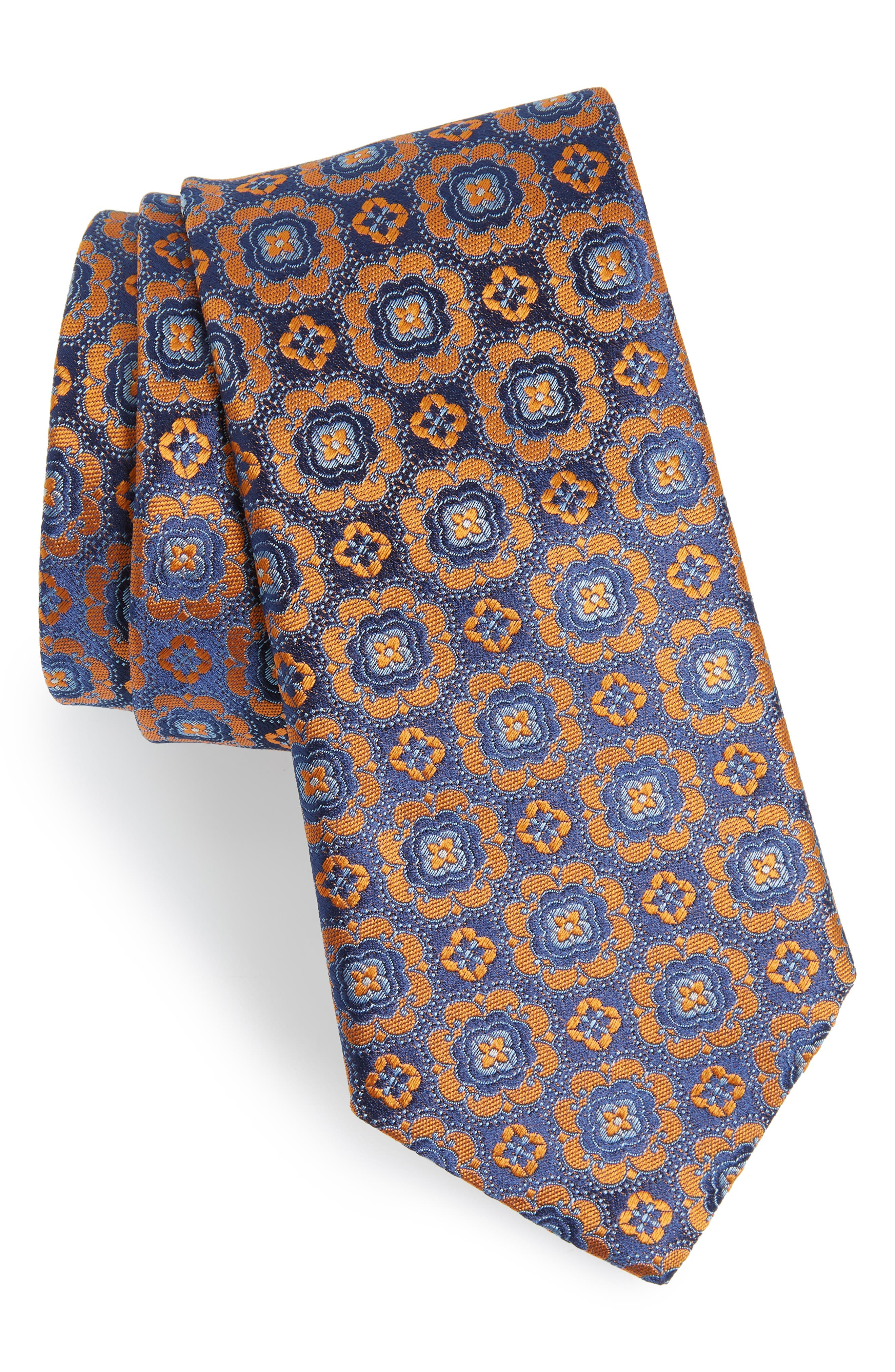 Medallion Silk Tie,                         Main,                         color, 800