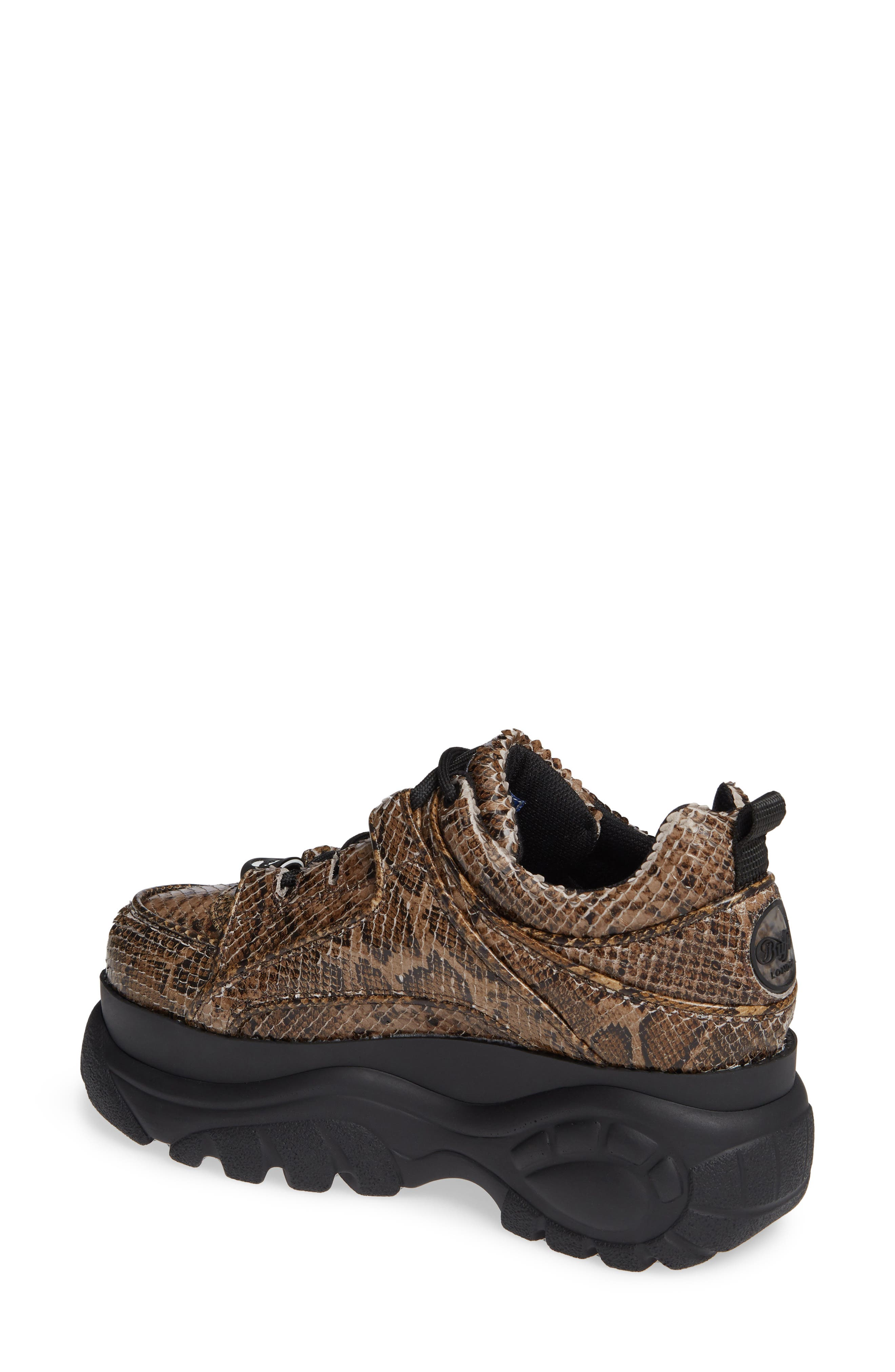 x Buffalo London Python Print Platform Sneaker,                             Alternate thumbnail 2, color,                             BEIGE