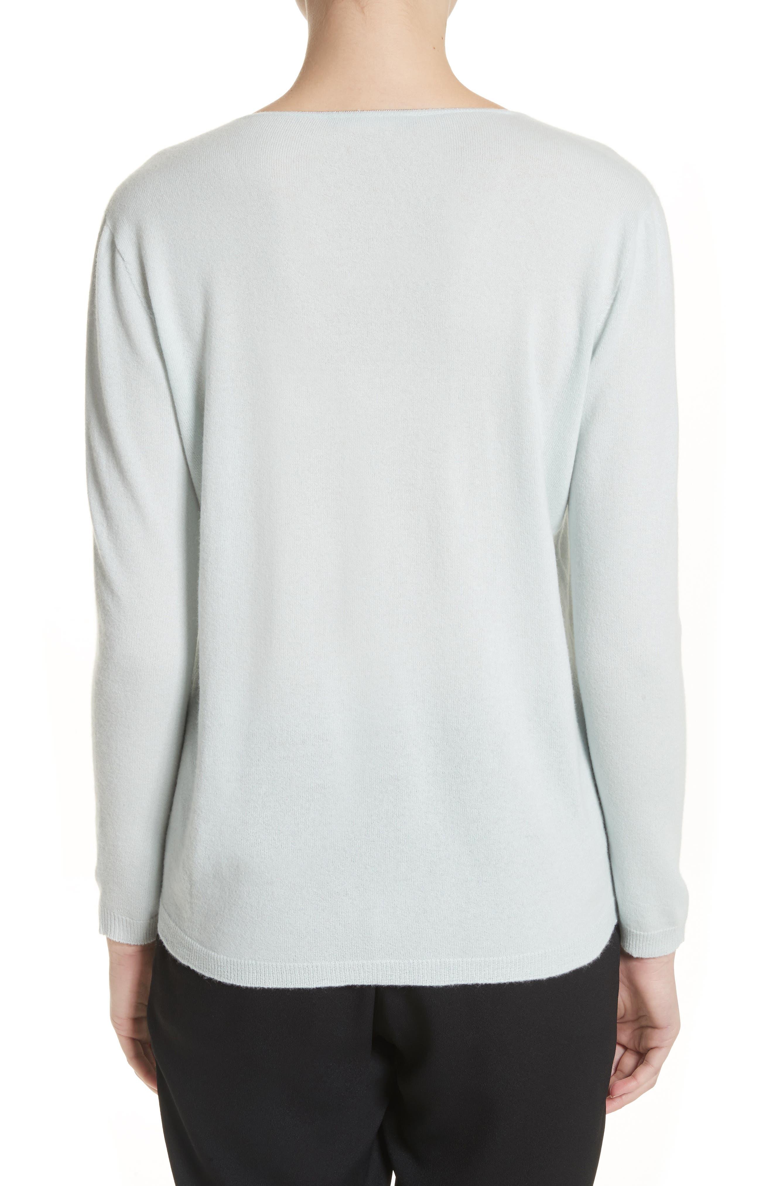V-Neck Cashmere Sweater,                             Alternate thumbnail 3, color,