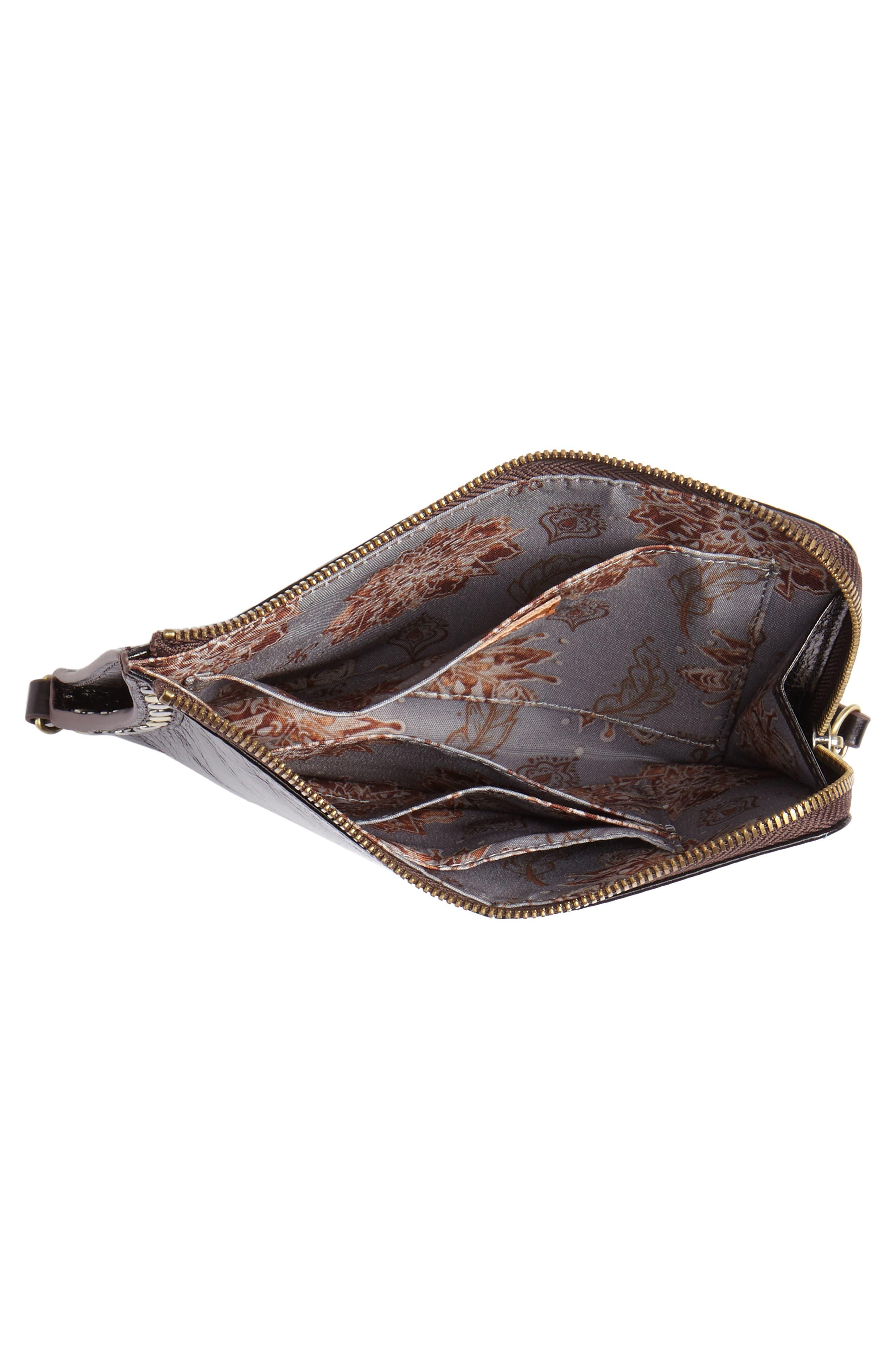 HOBO,                             Moxie Leather Crossbody Bag,                             Alternate thumbnail 4, color,                             BLACK