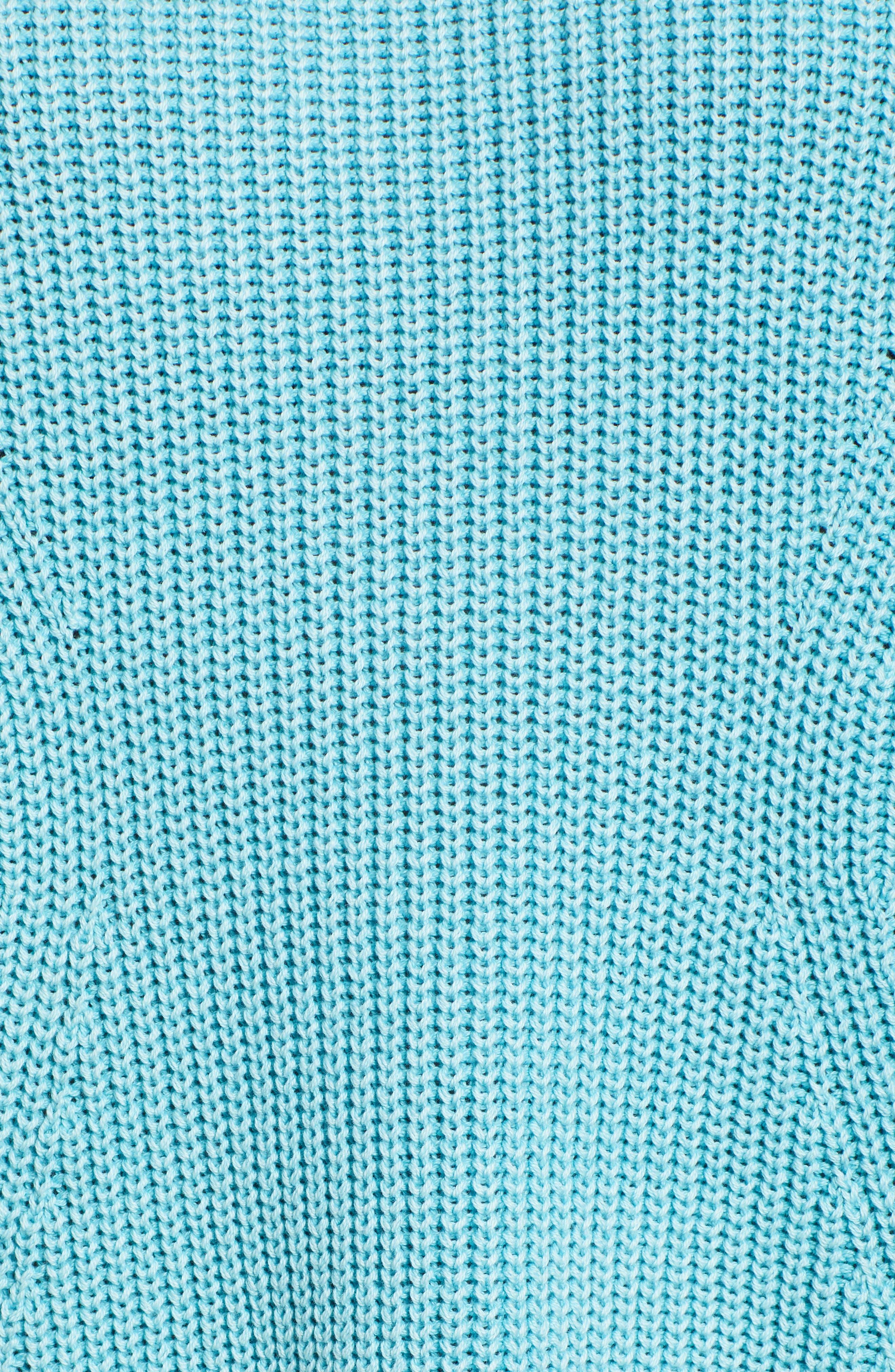 CASLON<SUP>®</SUP>,                             Tie Back Tunic Sweater,                             Alternate thumbnail 5, color,                             BLUE MAUI