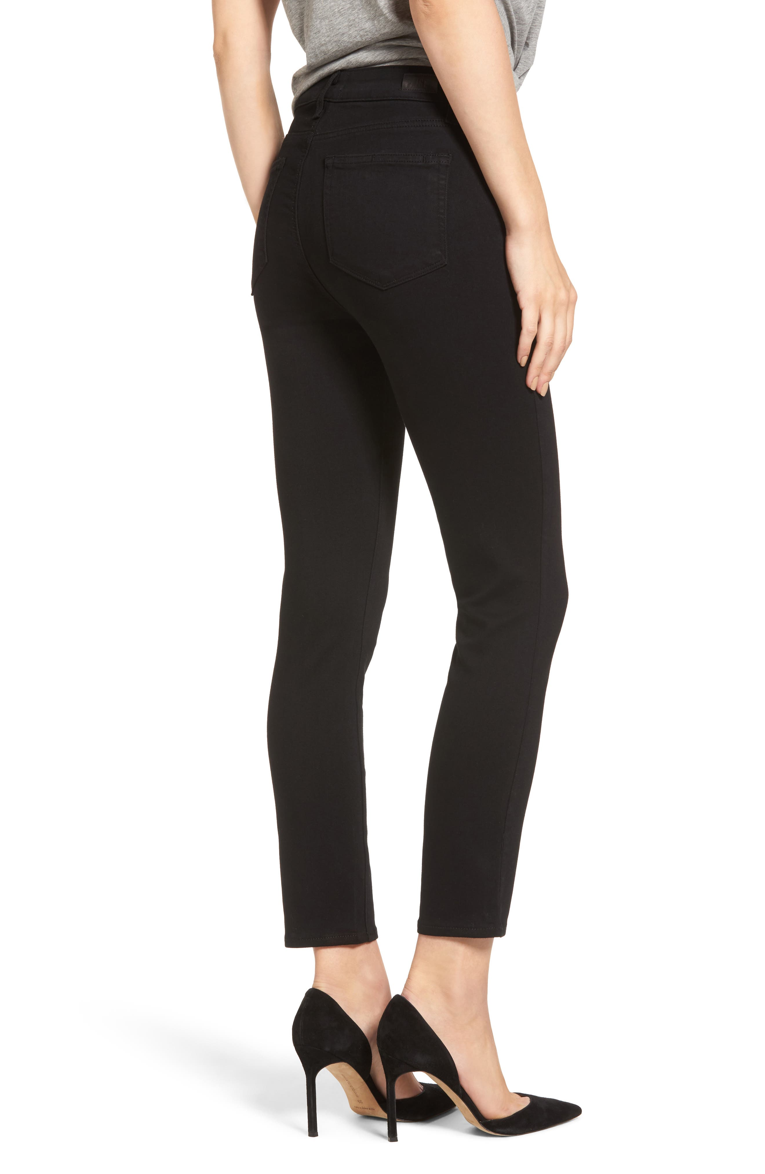 Hoxton Transcend High Waist Crop Skinny Jeans,                             Alternate thumbnail 2, color,                             BLACK SHADOW