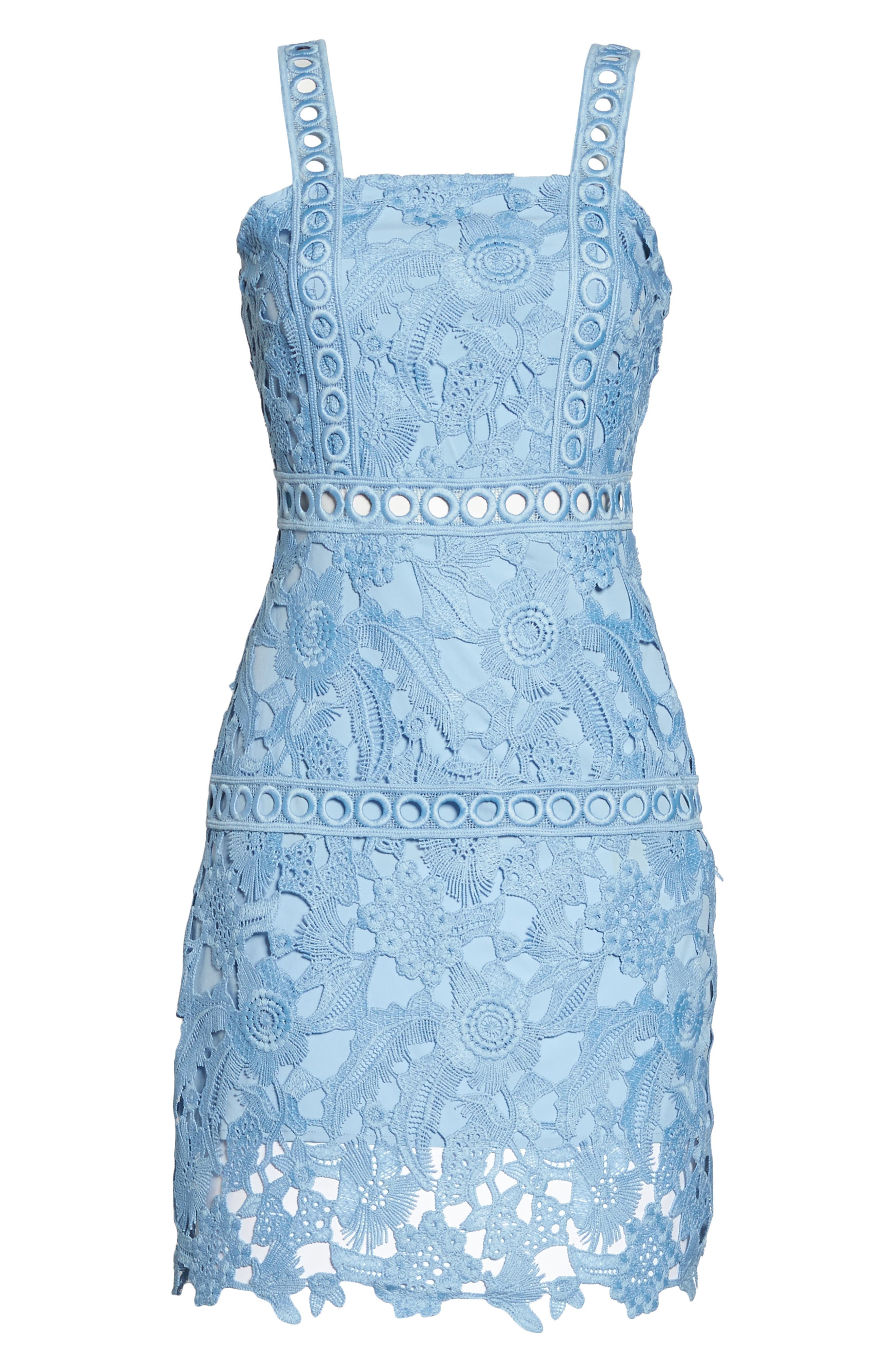 Lace Sheath Dress,                             Alternate thumbnail 7, color,                             435