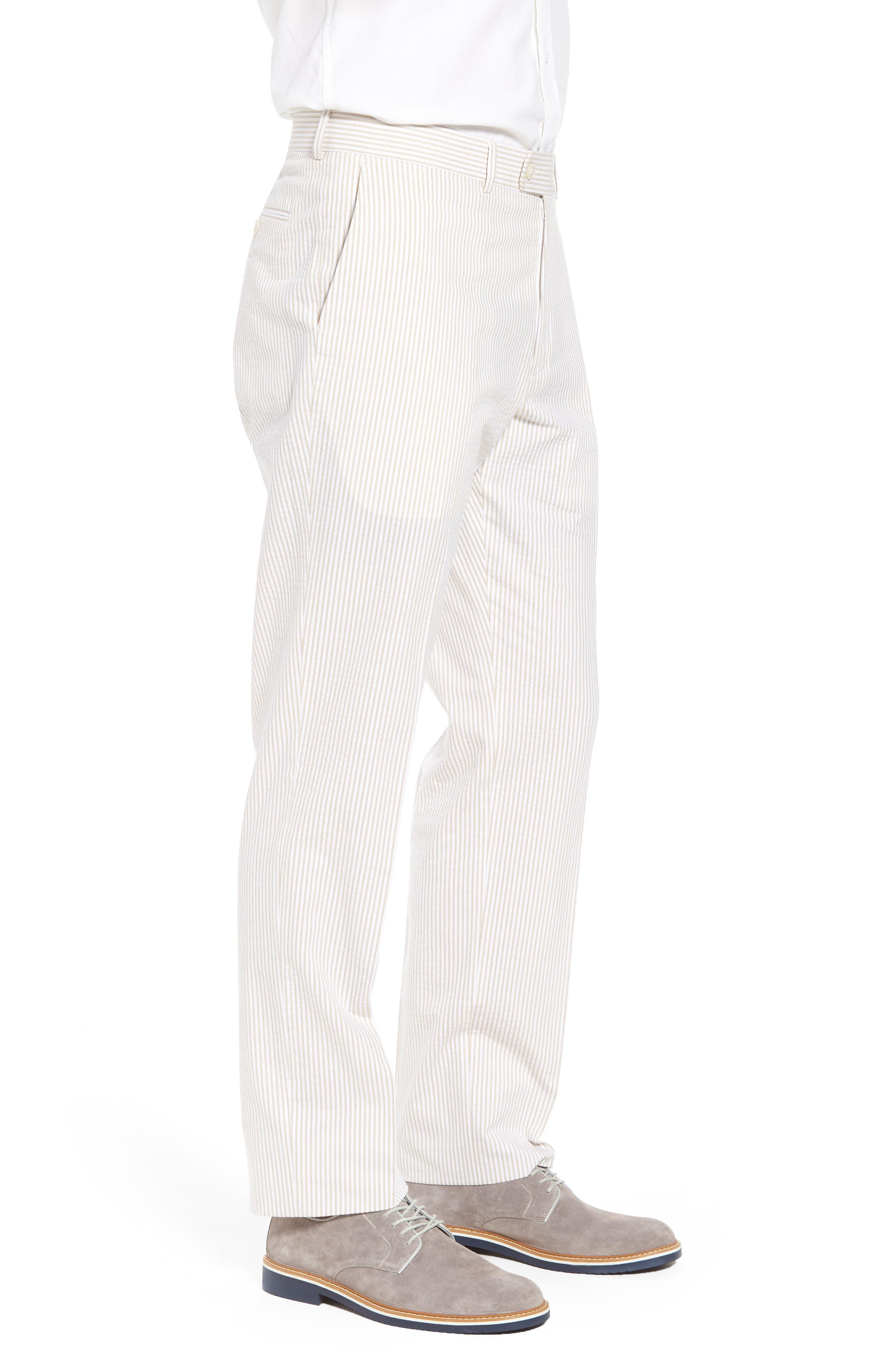 Andrew AIM Flat Front Seersucker Trousers,                             Alternate thumbnail 3, color,                             250