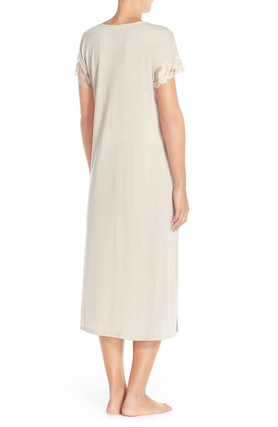 'Zen' Short Sleeve Nightgown,                             Alternate thumbnail 9, color,