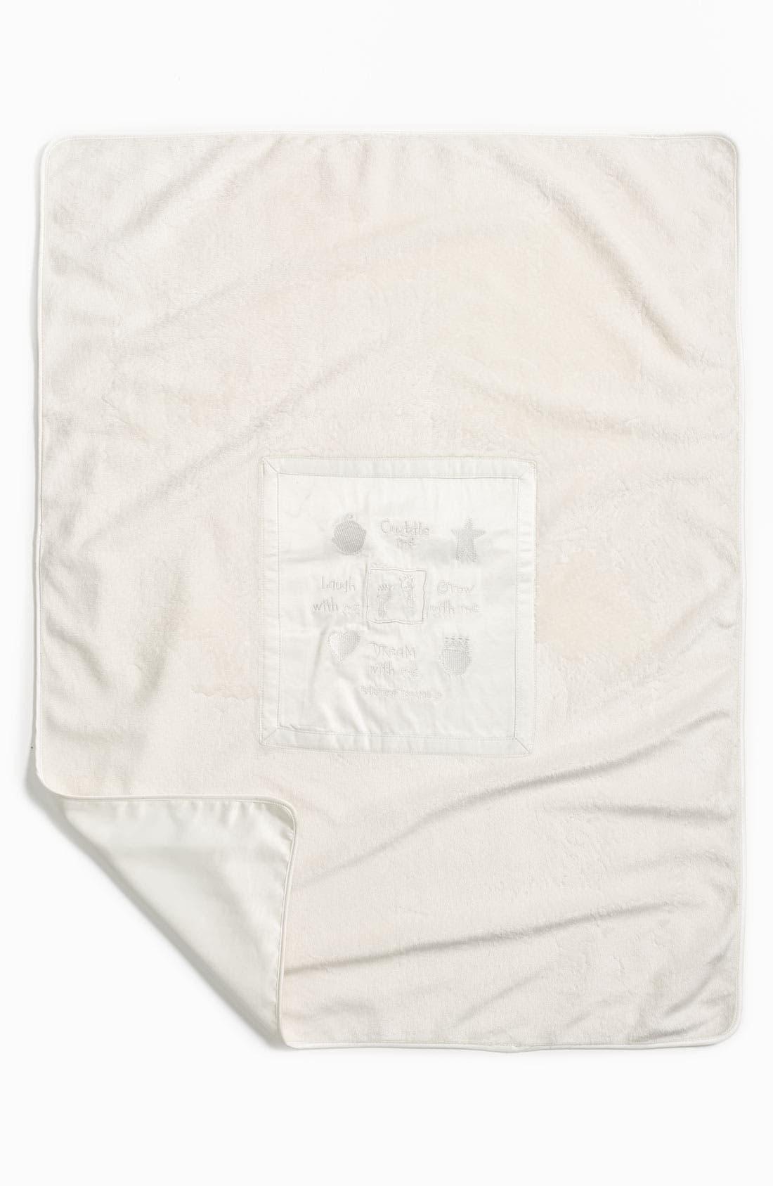 Signature Plush Blanket,                         Main,                         color, CREAM