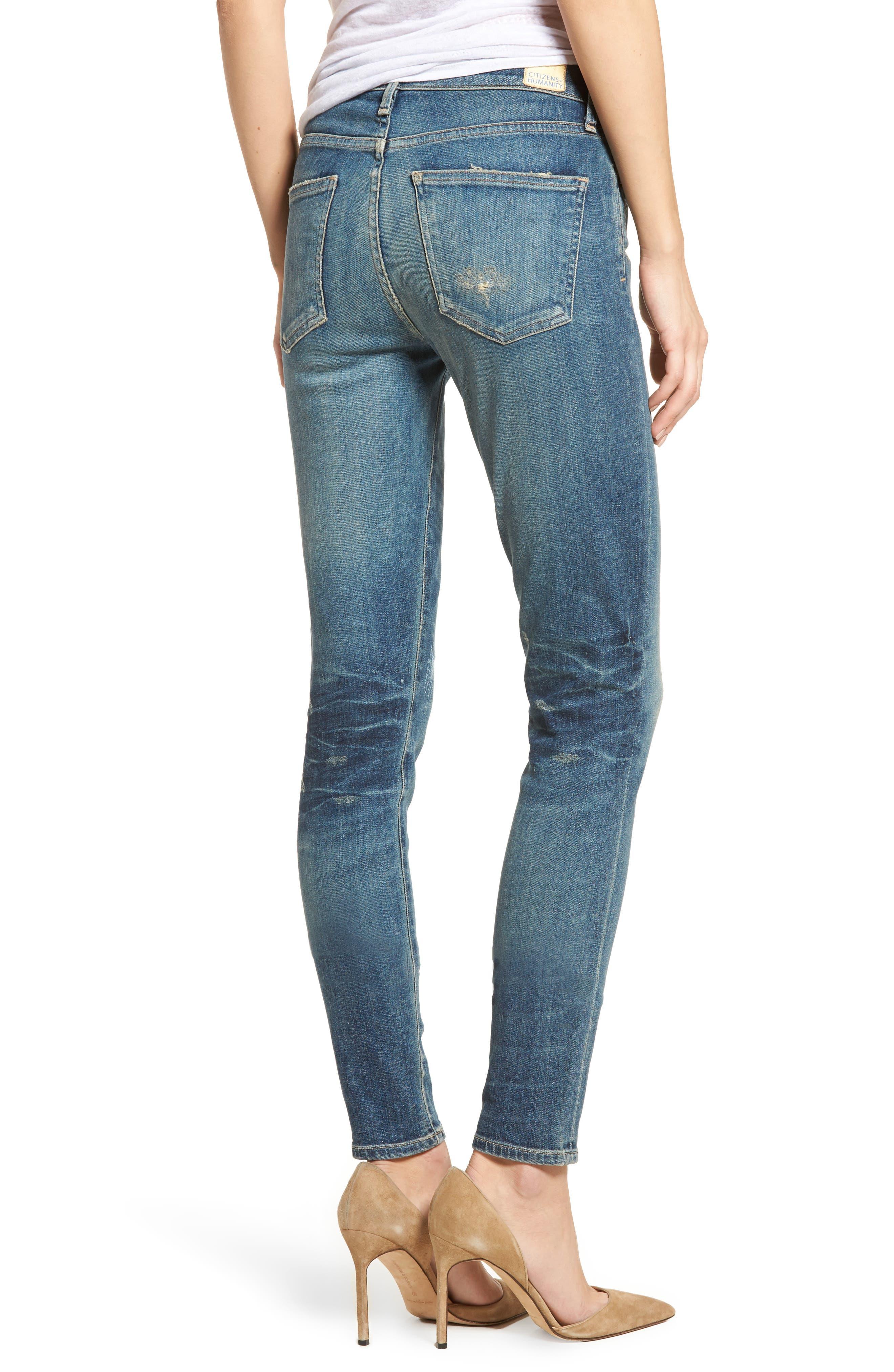 Rocket High Waist Skinny Jeans,                             Alternate thumbnail 2, color,                             465