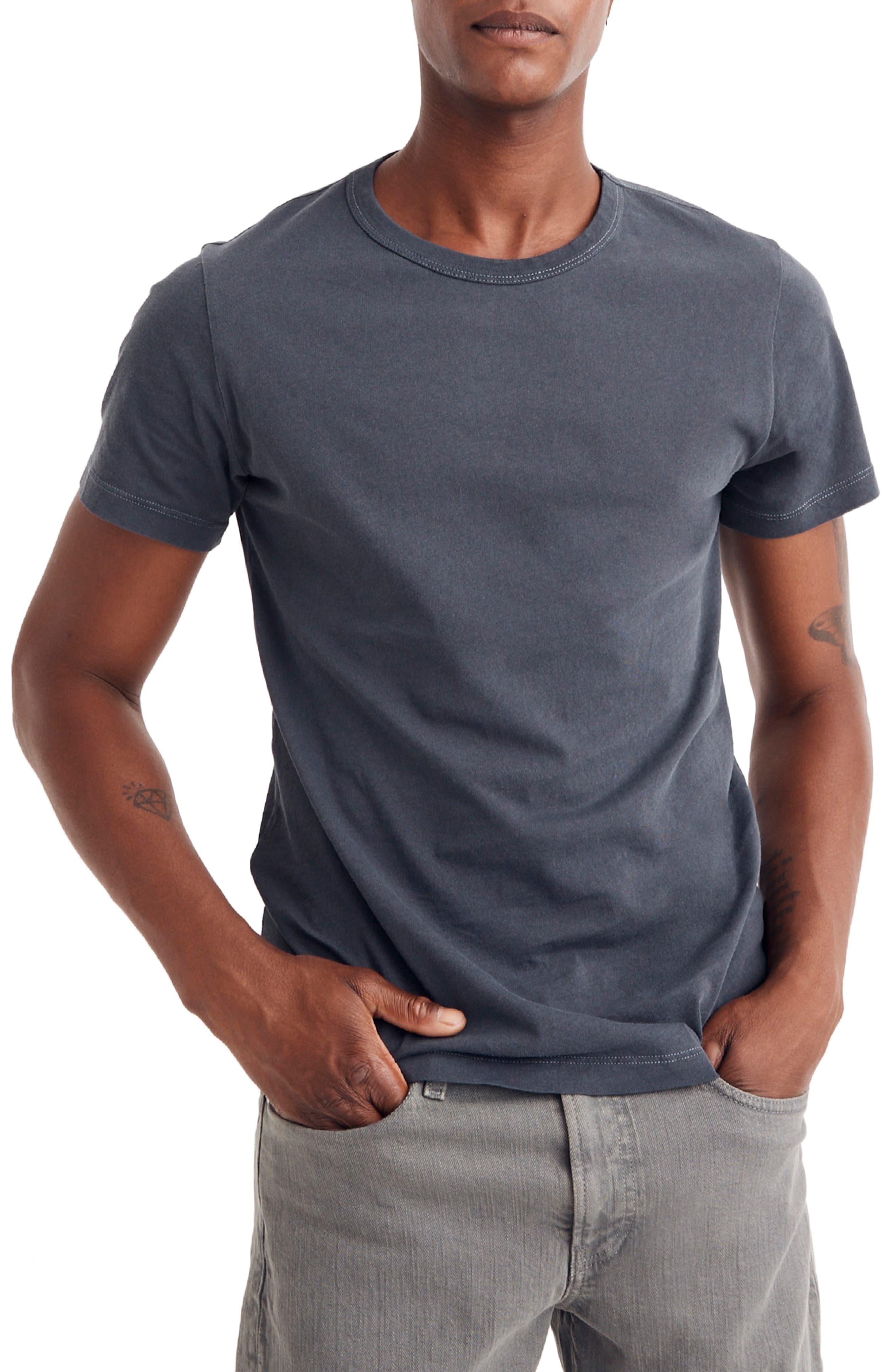 Crewneck T-Shirt,                         Main,                         color, CLASSIC BLACK