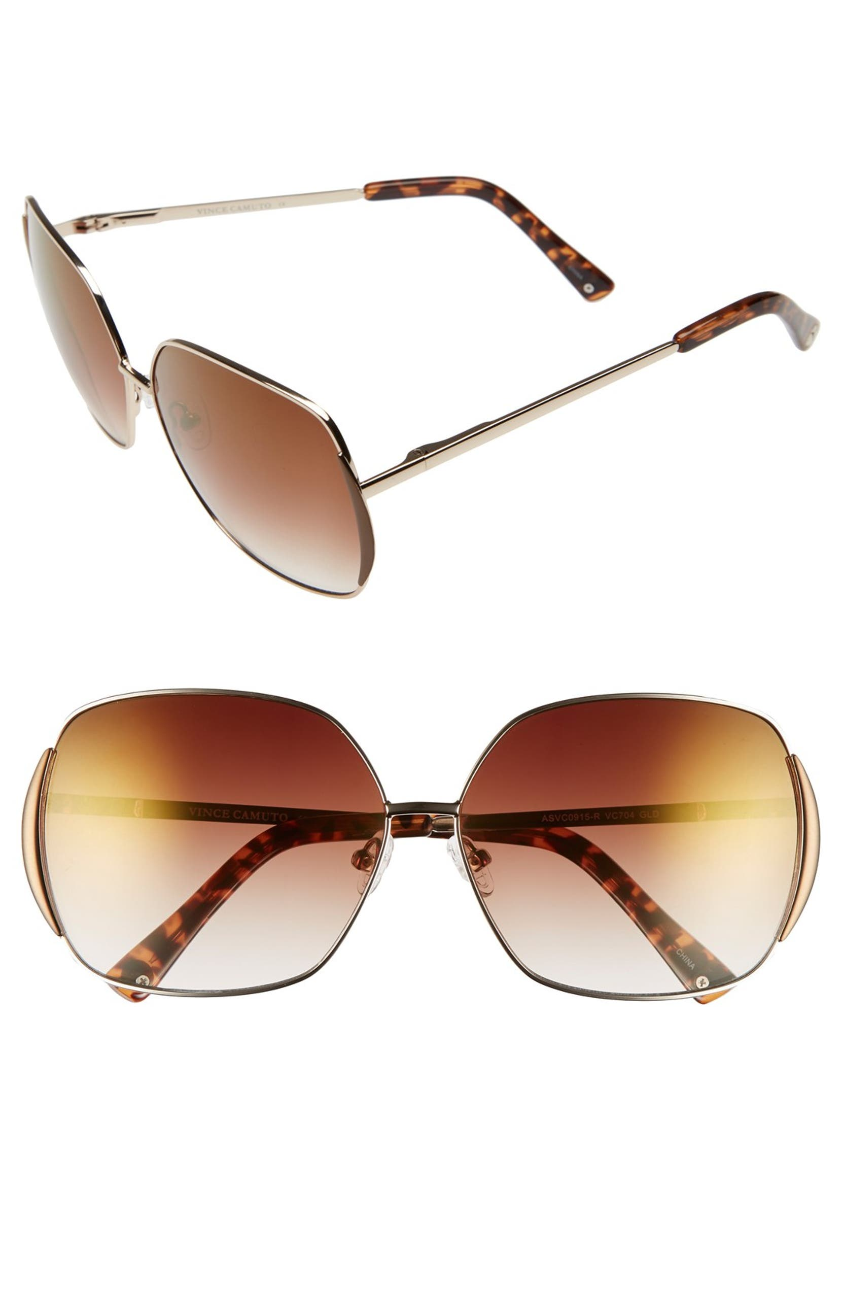 2ddb7a8b1a Vince Camuto Square 62mm Sunglasses