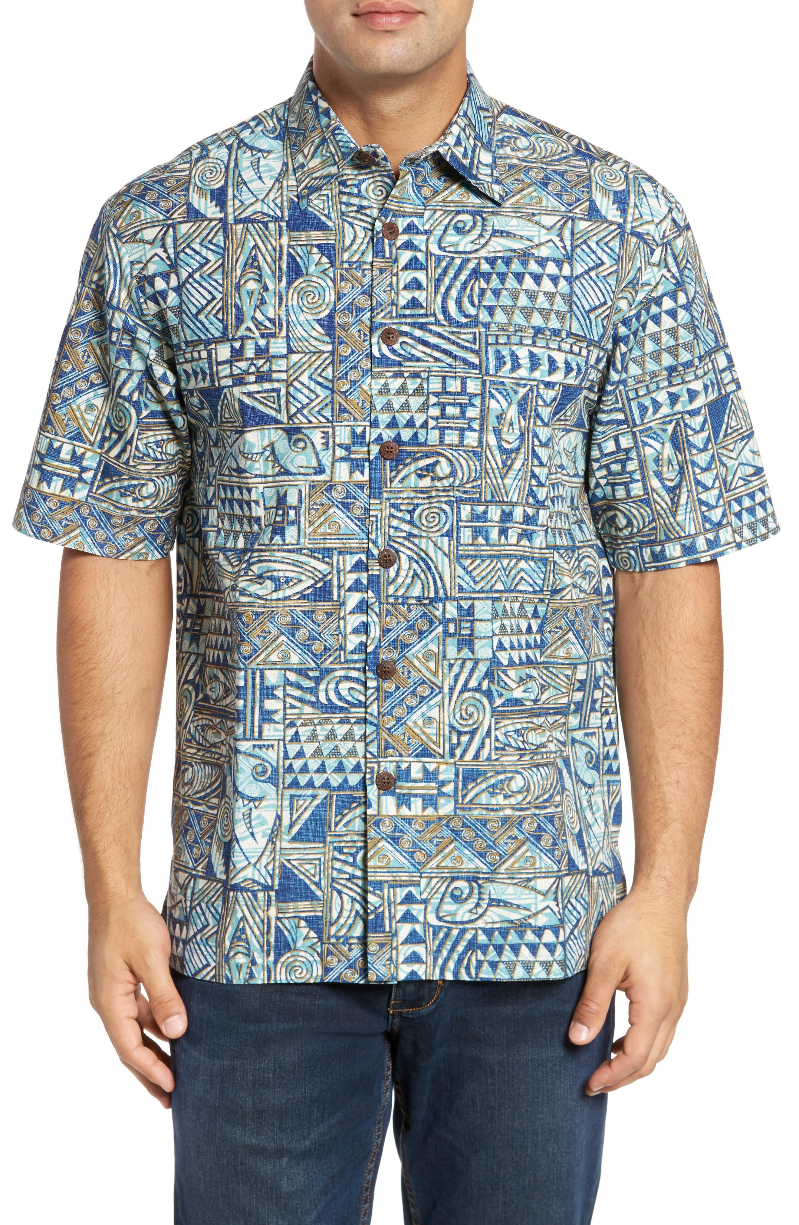 Ehukai Classic Fit Print Sport Shirt,                             Main thumbnail 2, color,