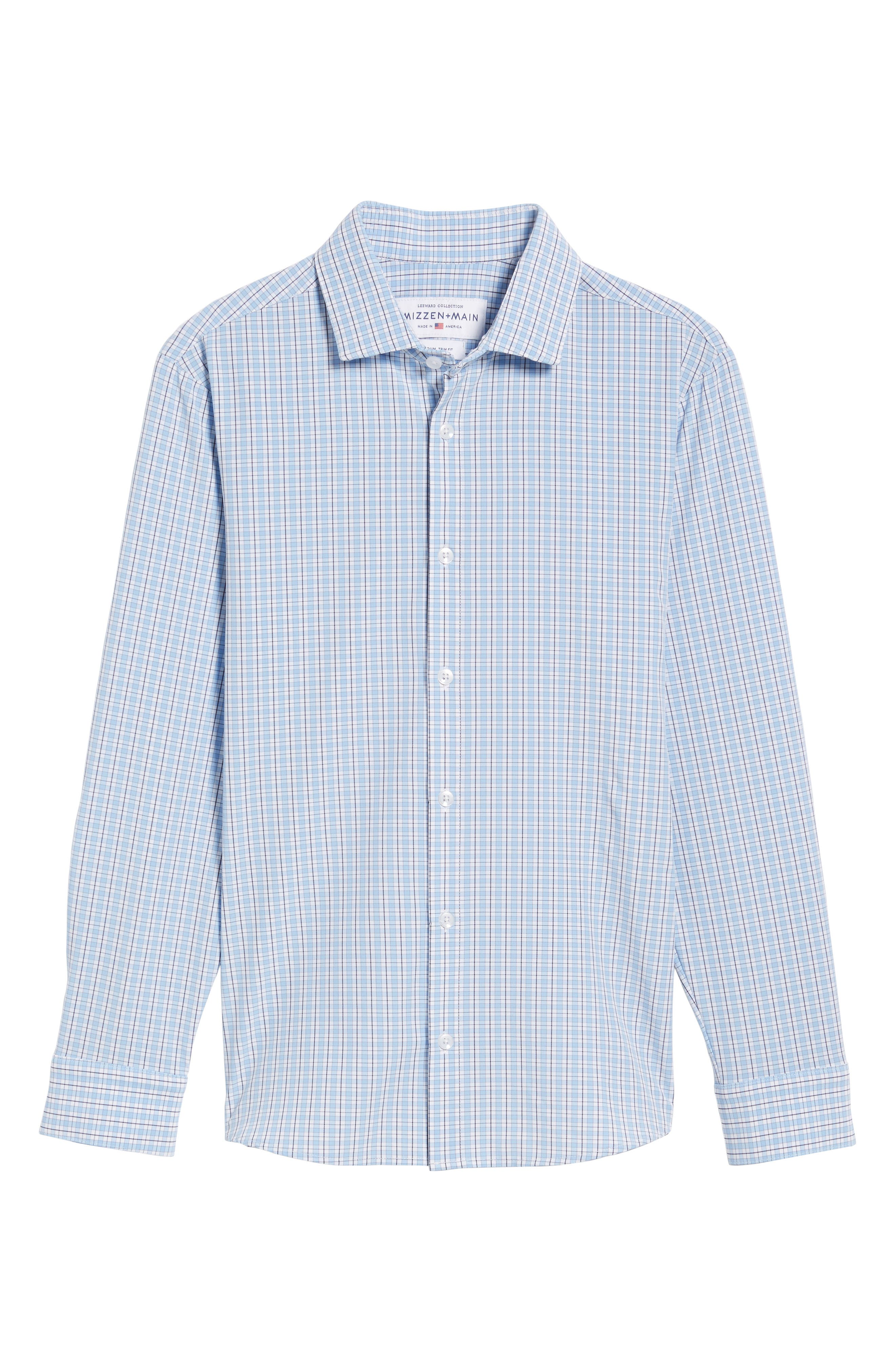 Benson Check Sport Shirt,                             Alternate thumbnail 6, color,                             400