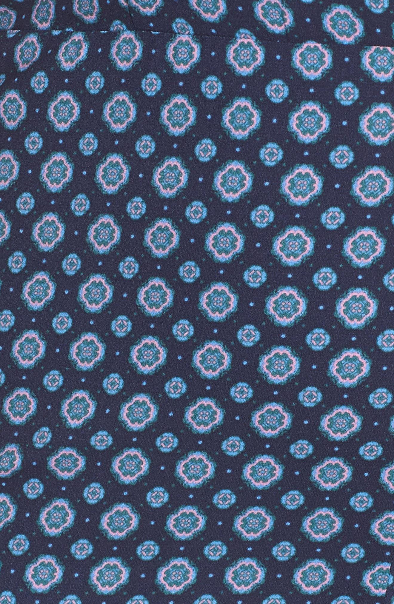 Print Button Front Jumpsuit,                             Alternate thumbnail 12, color,                             NAVY PEACOAT GEO DOT FOULARD