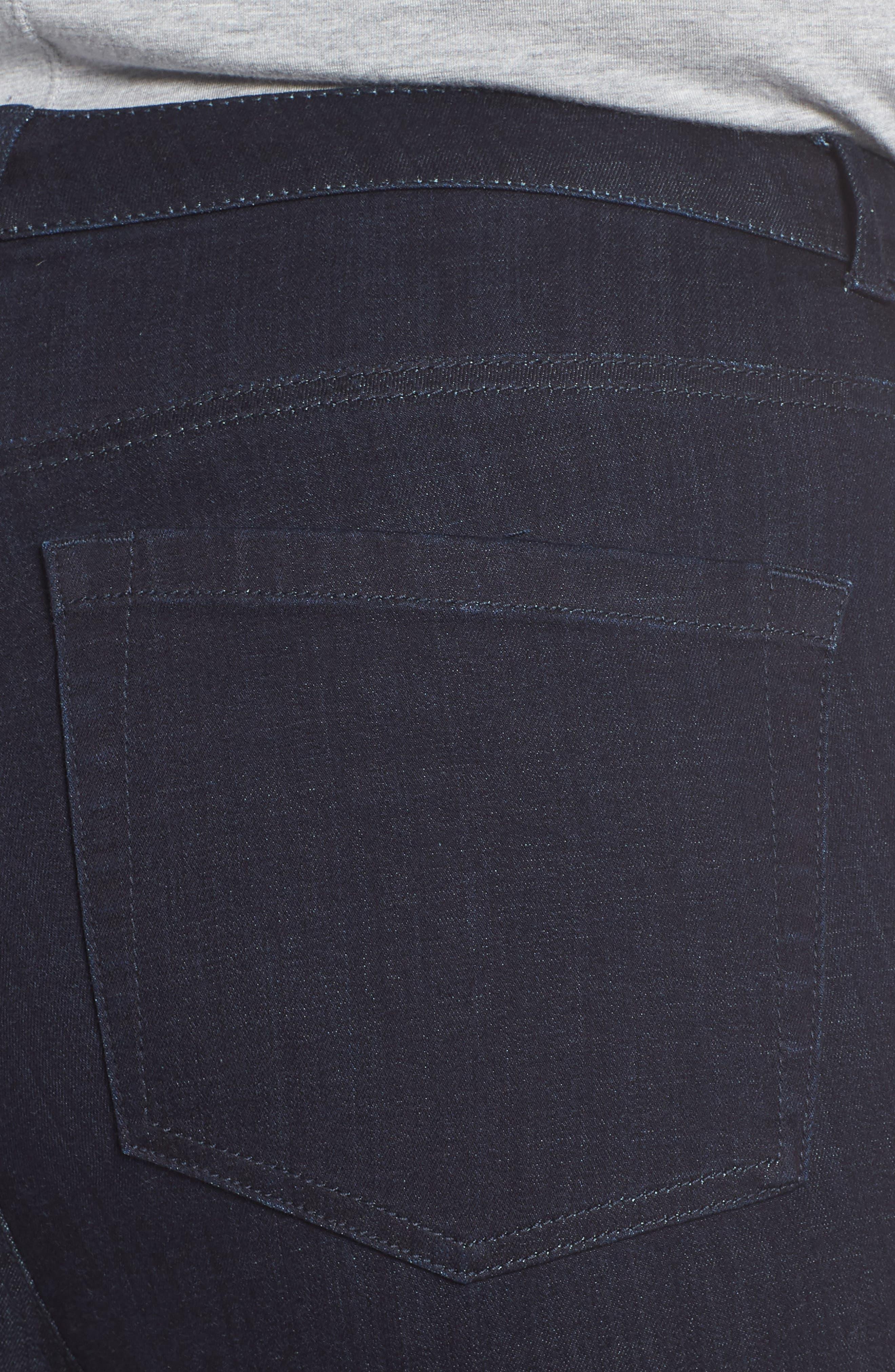 Stretch Skinny Jeans,                             Alternate thumbnail 4, color,                             DARK RINSE
