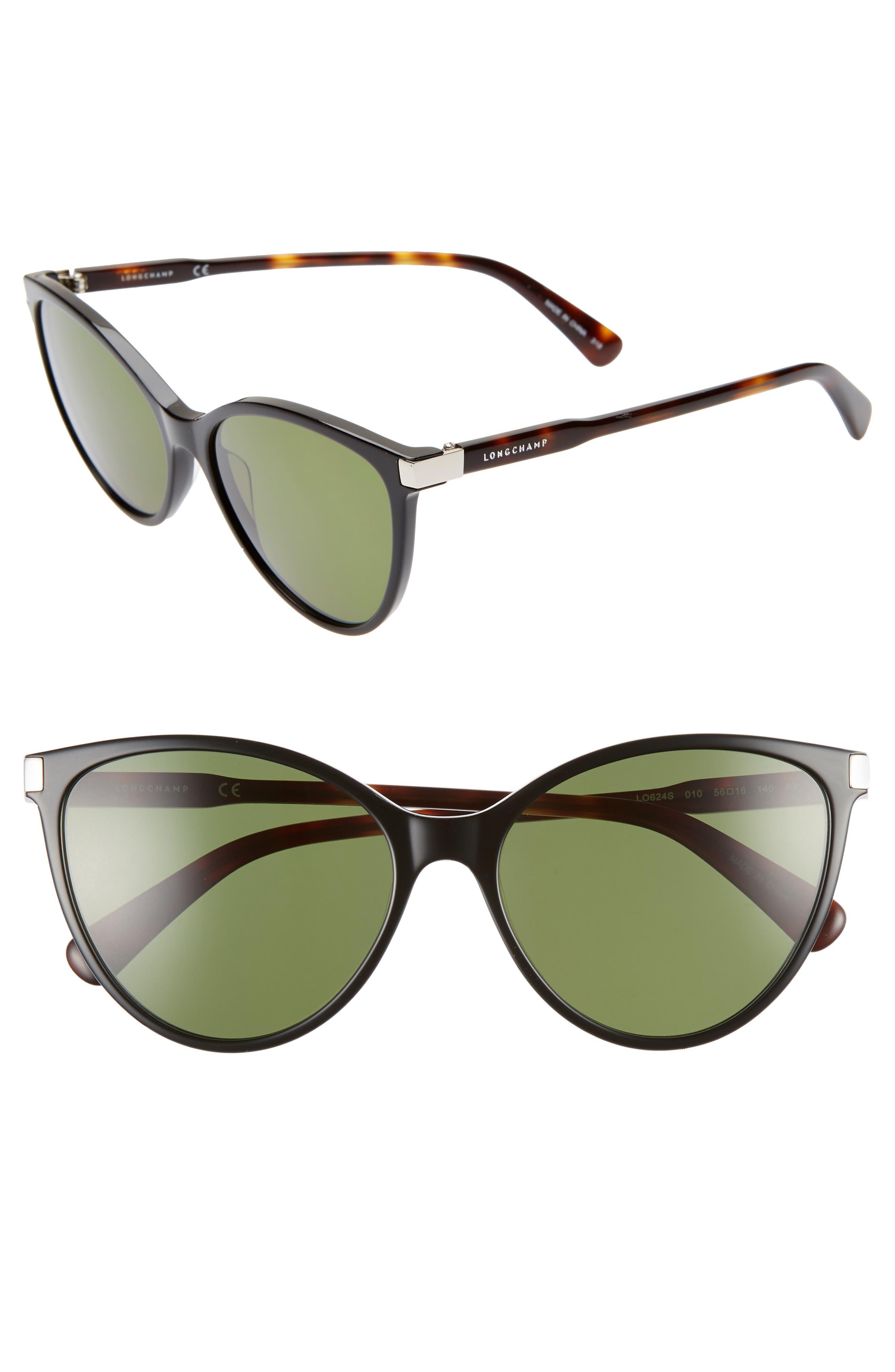 51280daba9 Longchamp Le Pliage 5m Cat Eye Sunglasses - Black  Havana